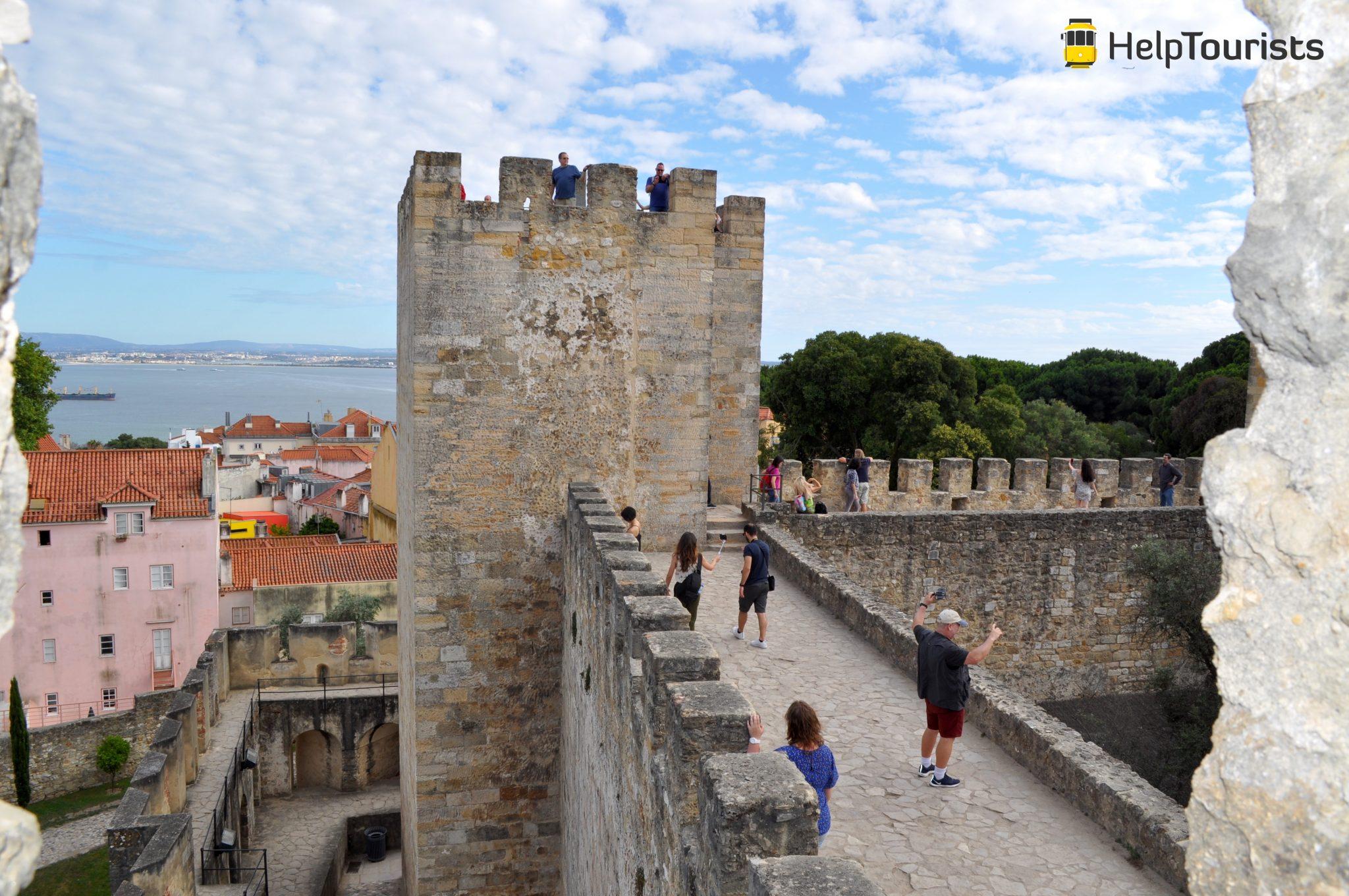 Lissabon Castelo de Sao jorge Mauer