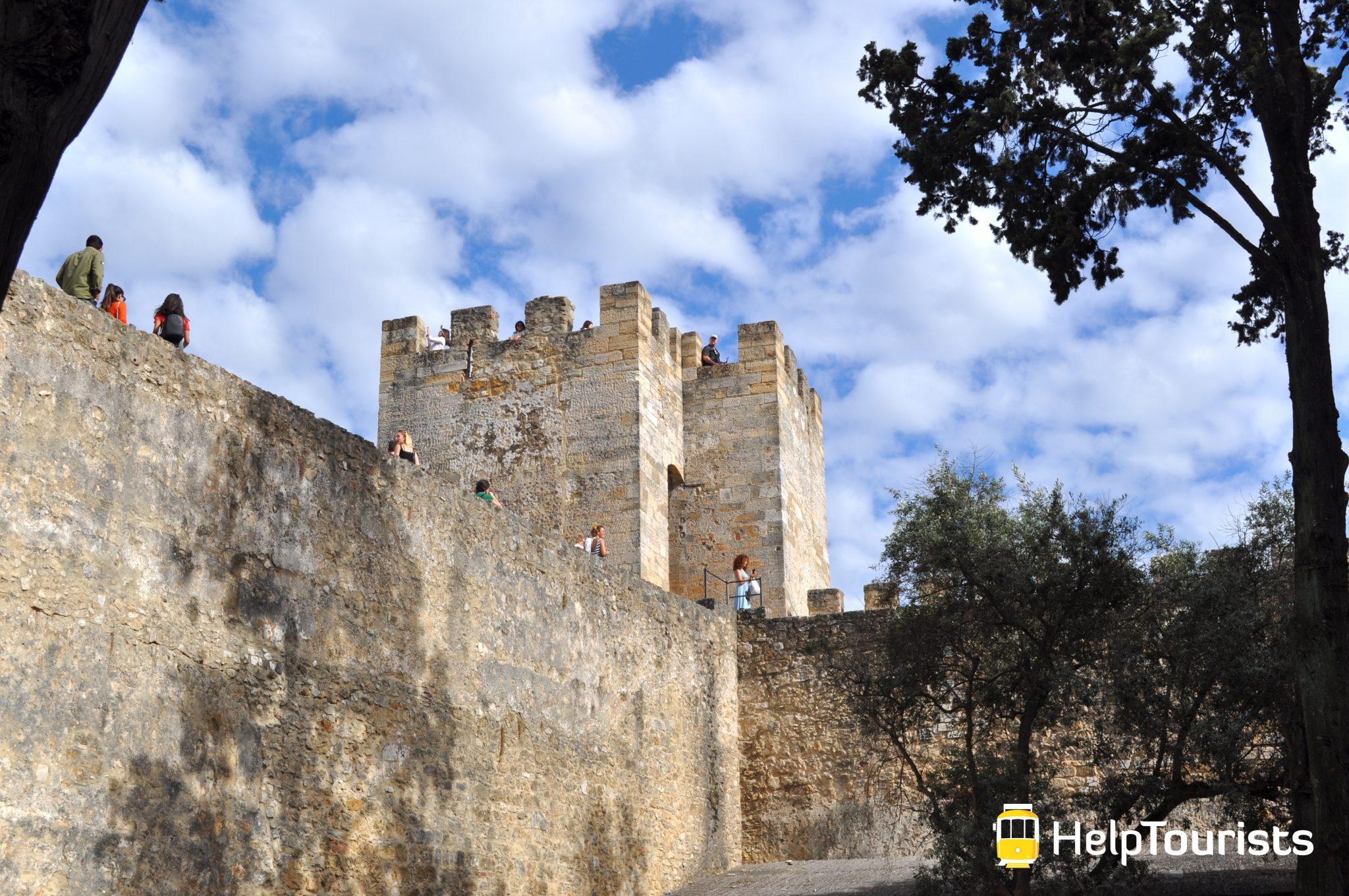 Lissabon Castelo de Sao jorge Turm
