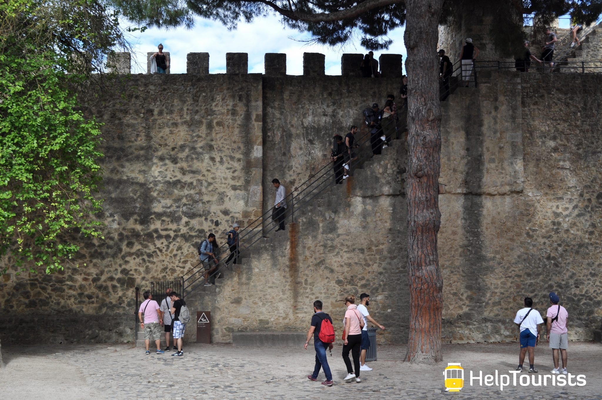 Lissabon Castelo de sao jorge Treppen