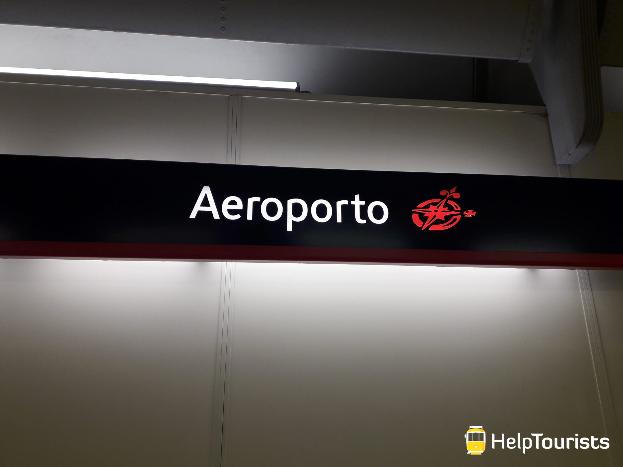 Lissabon Flughafen U-Bahn Station Aeroporto