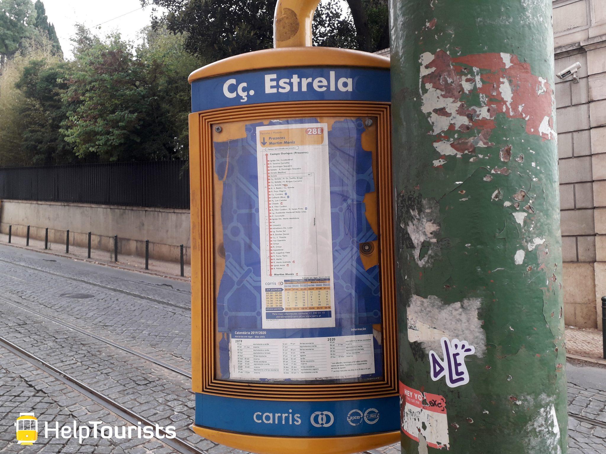 Lissabon Bushaltestelle Estrela
