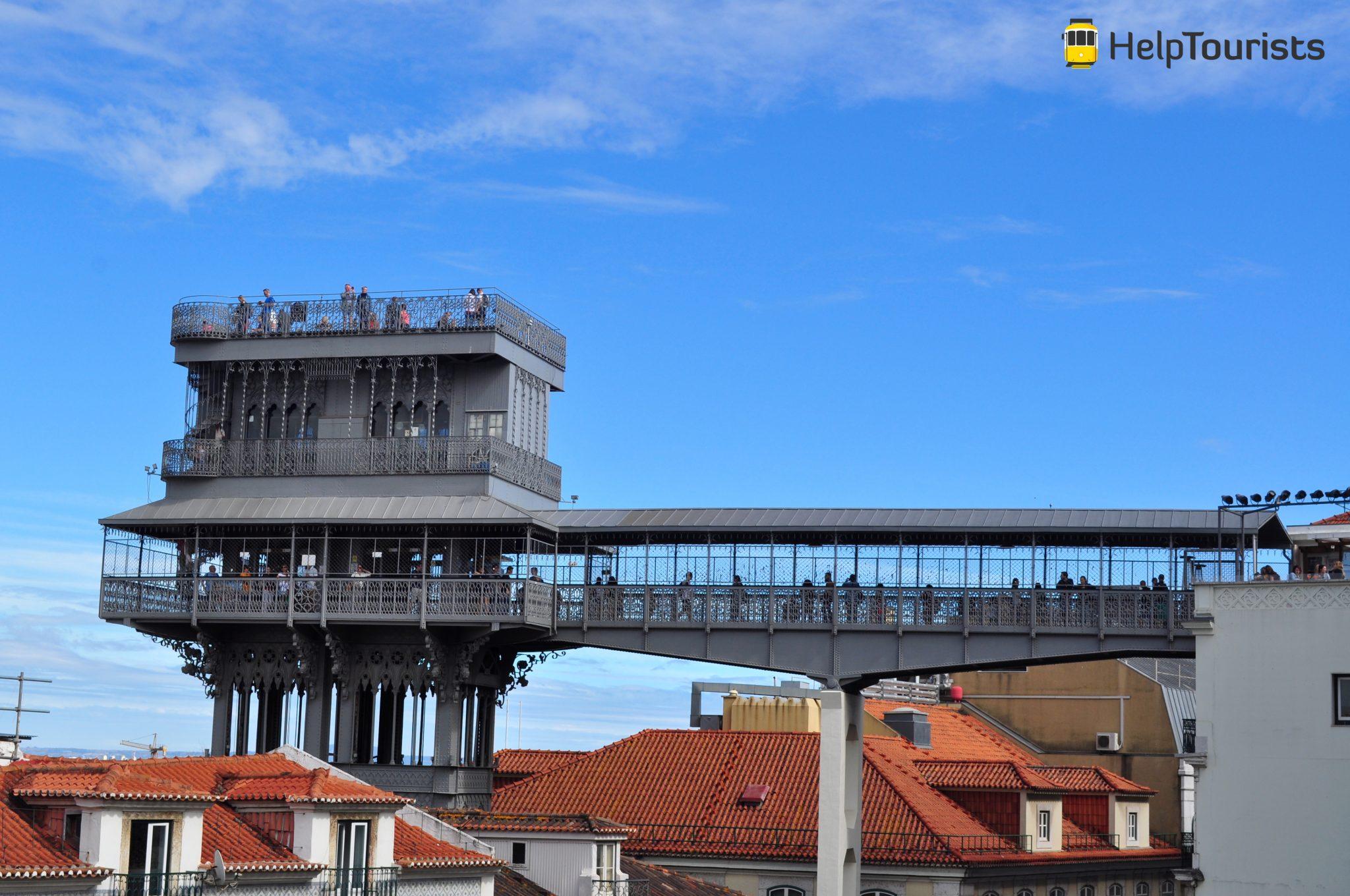 Lissabon Santa Justa Sonne