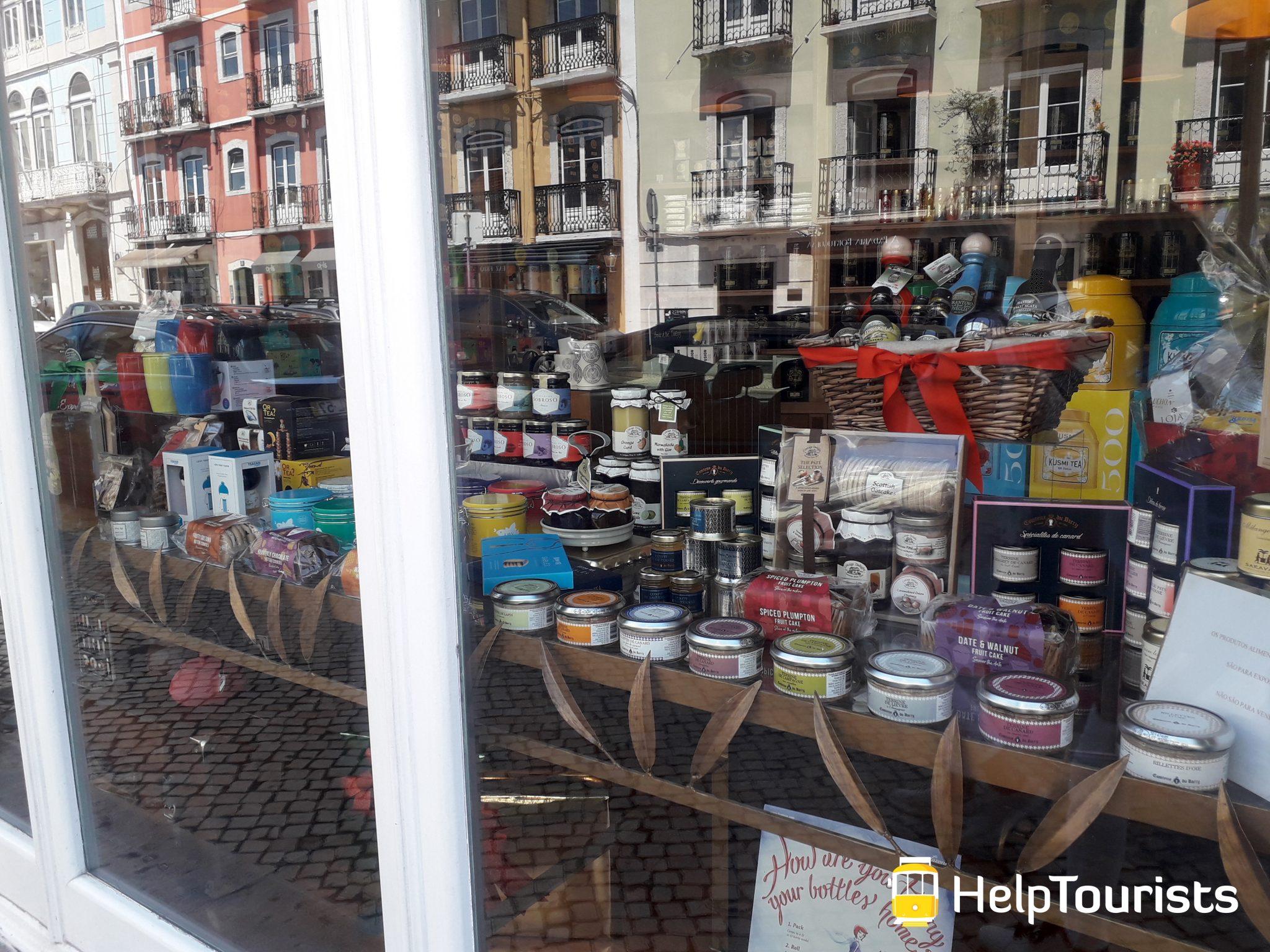 Lissabon Bairro Alto Shopping Schaufenster