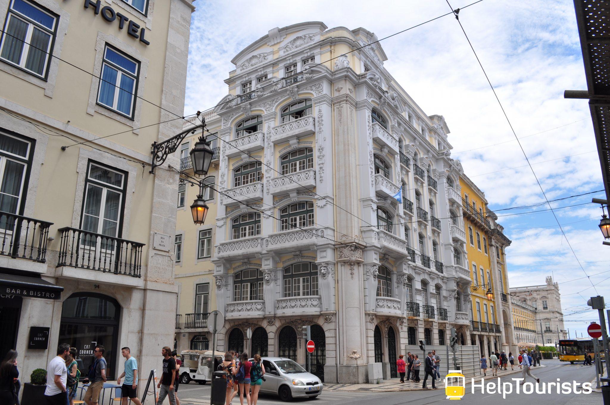 Lissabon Viertel Baixa Gebäude