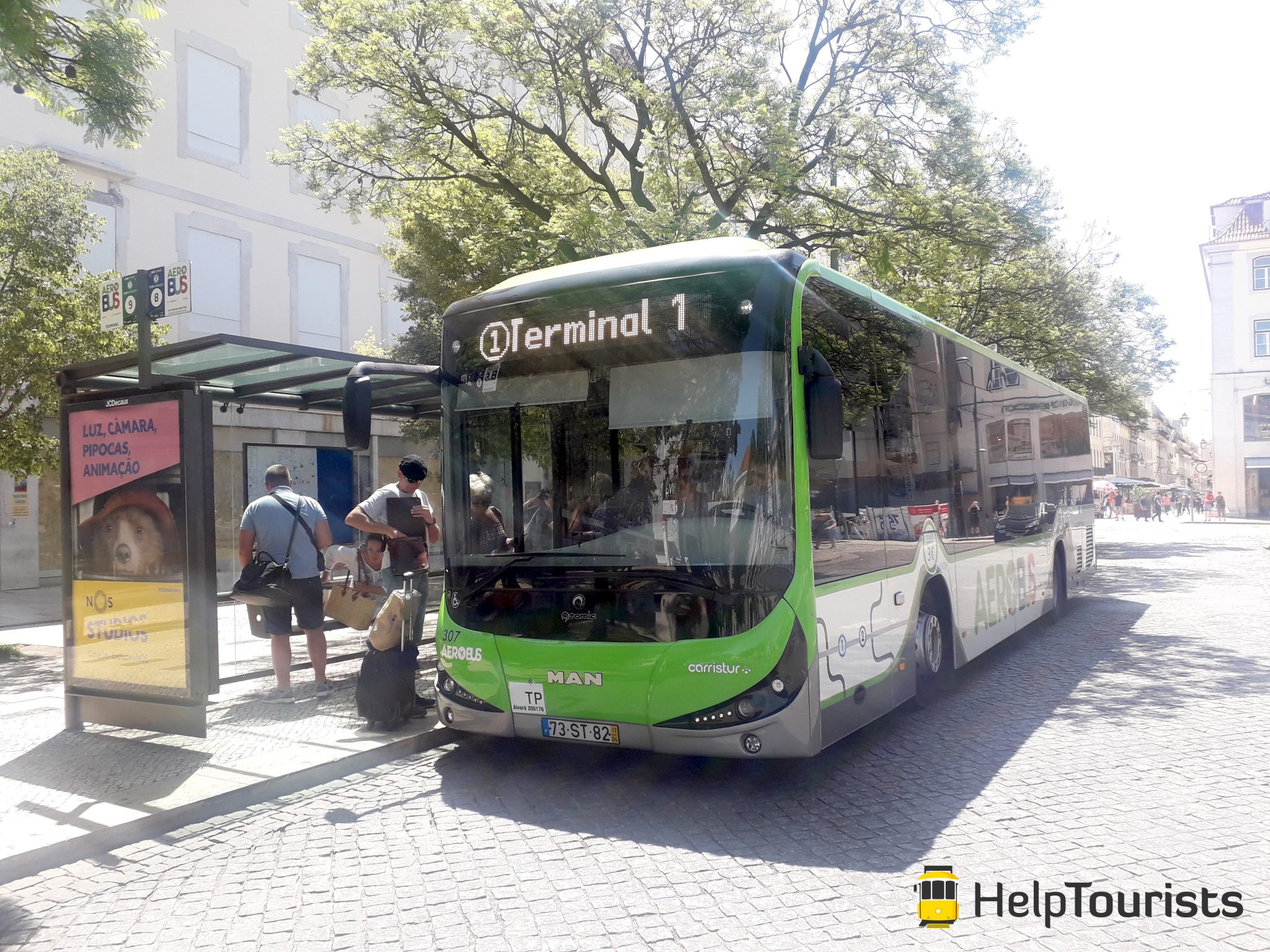 Lissabon Bus Flughafen Terminal 1