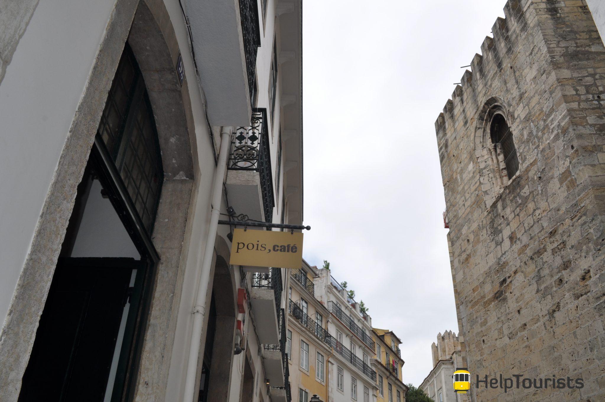 Lissabon Viertel café pois