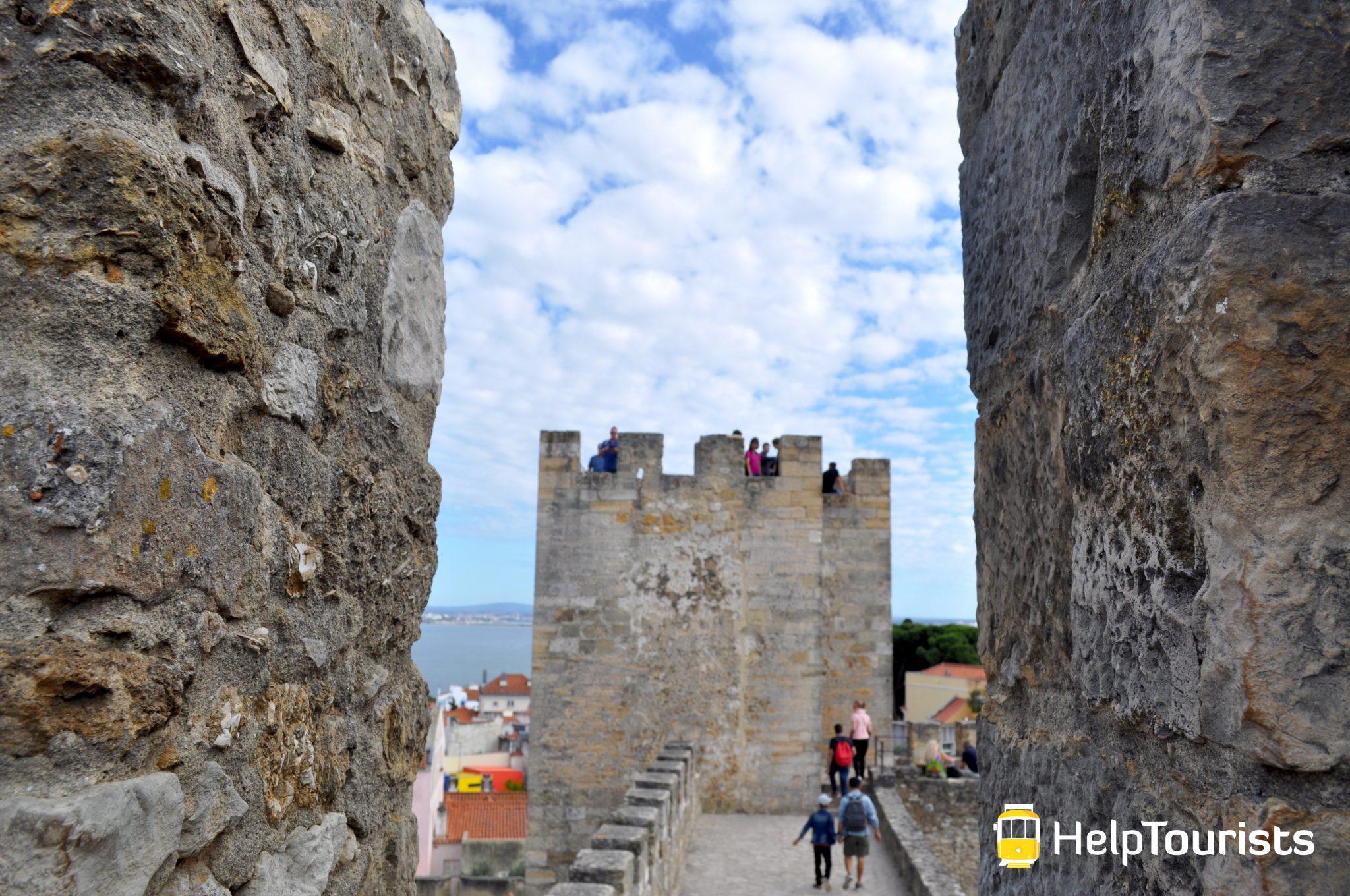 Lissabon castelo de sao jorge aussicht turm