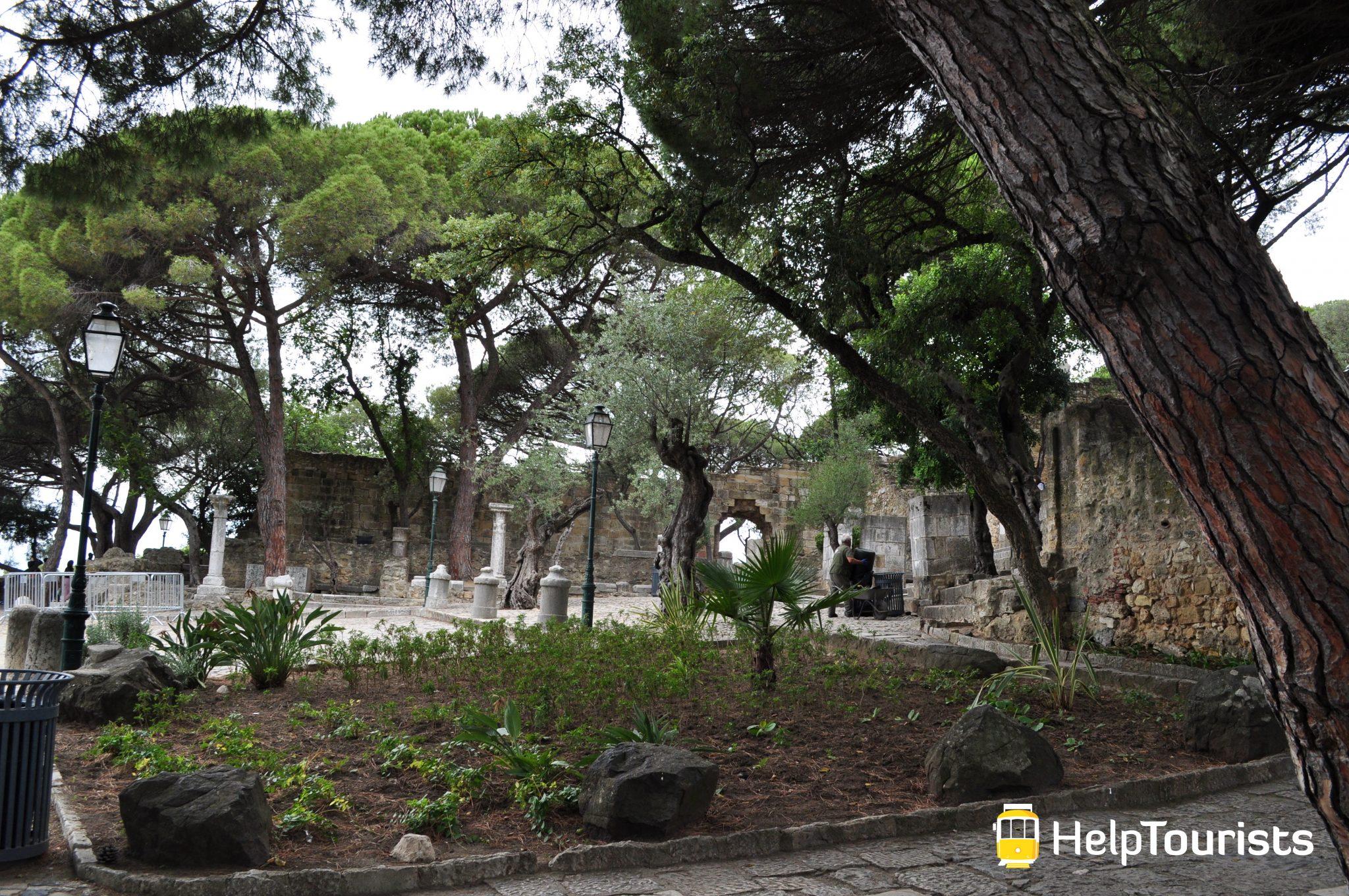 Lissabon castelo de sao jorge Garten Pflanzen