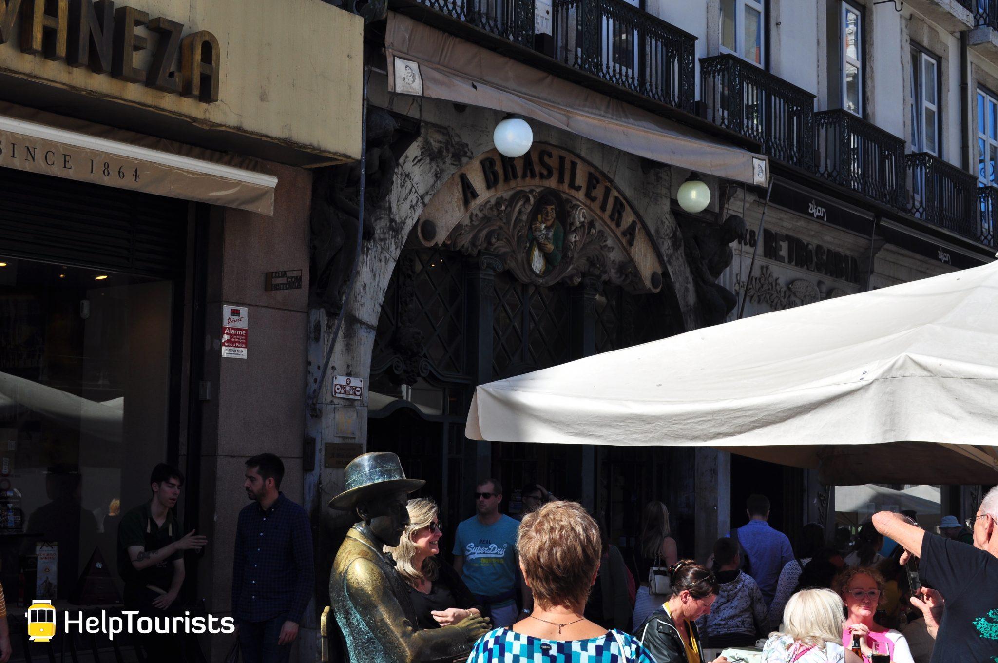 Lissabon Viertel Chiado Café Terrasse