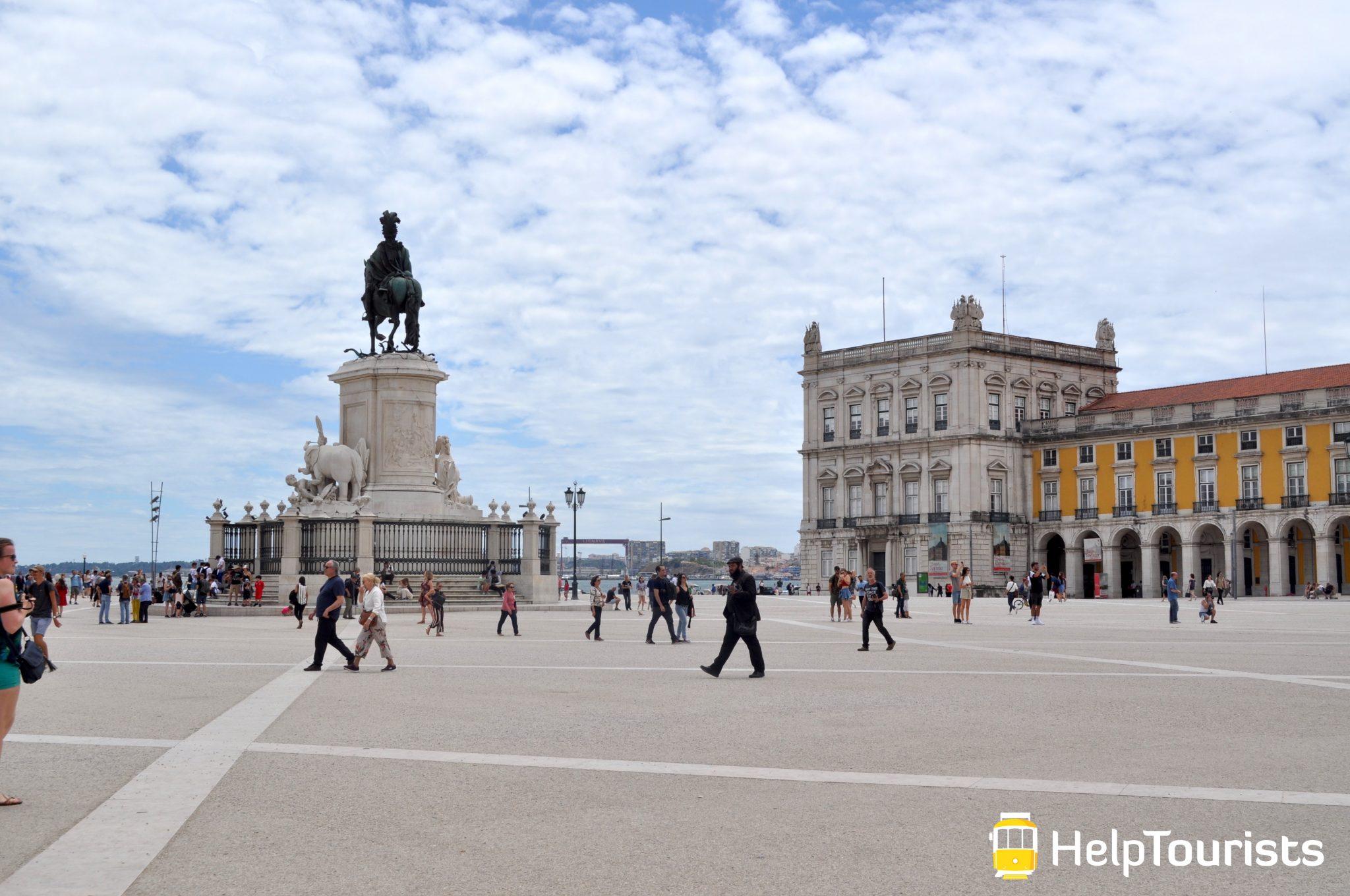 Lissabon Handelsplatz Gebäude