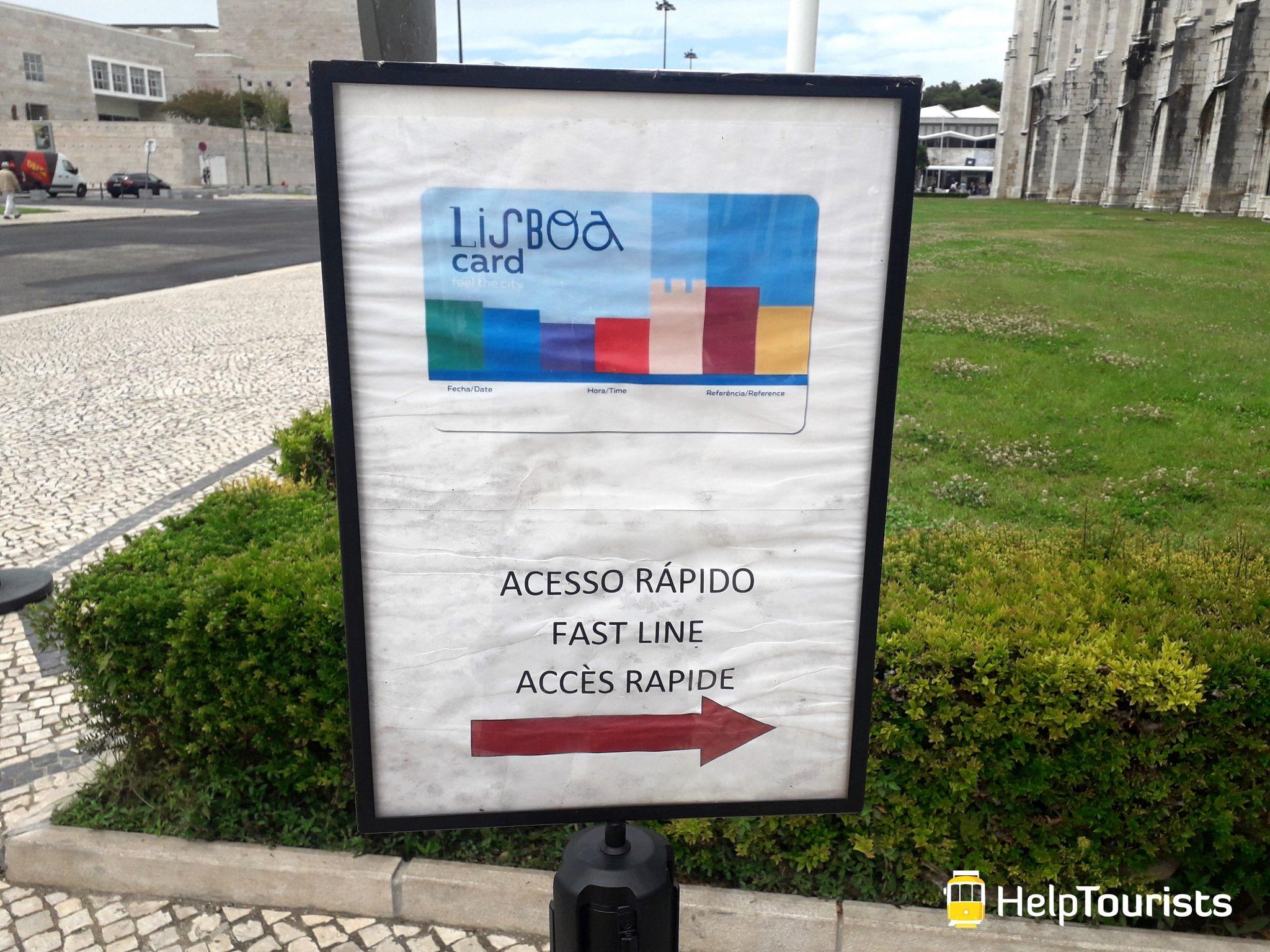 Lissabon lisboa card Warteschlange