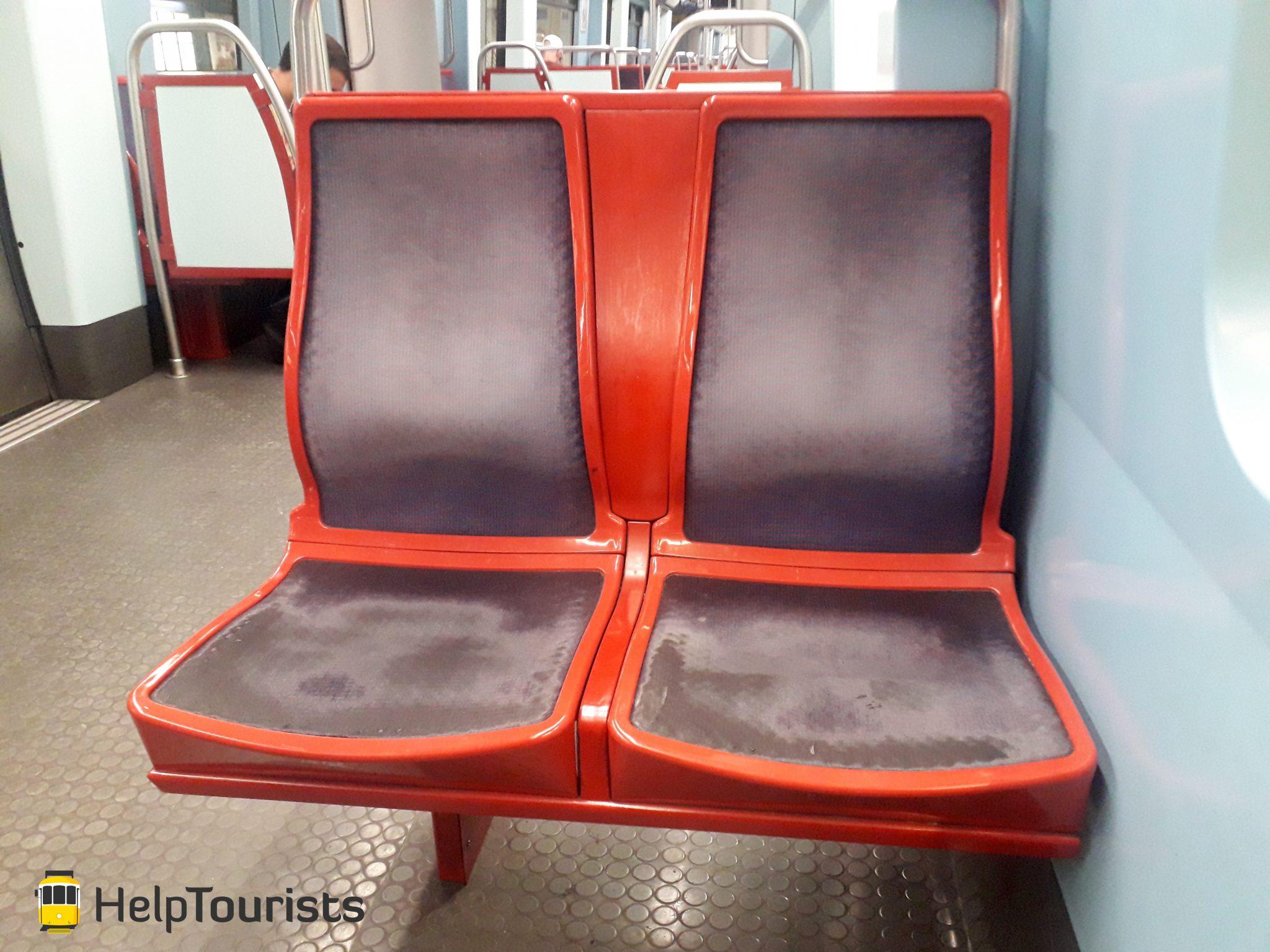 Lissabon U-Bahn Sitze