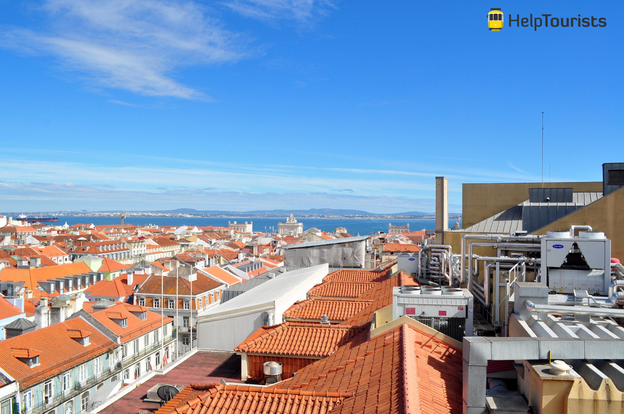 Lissabon Aussicht Sonne
