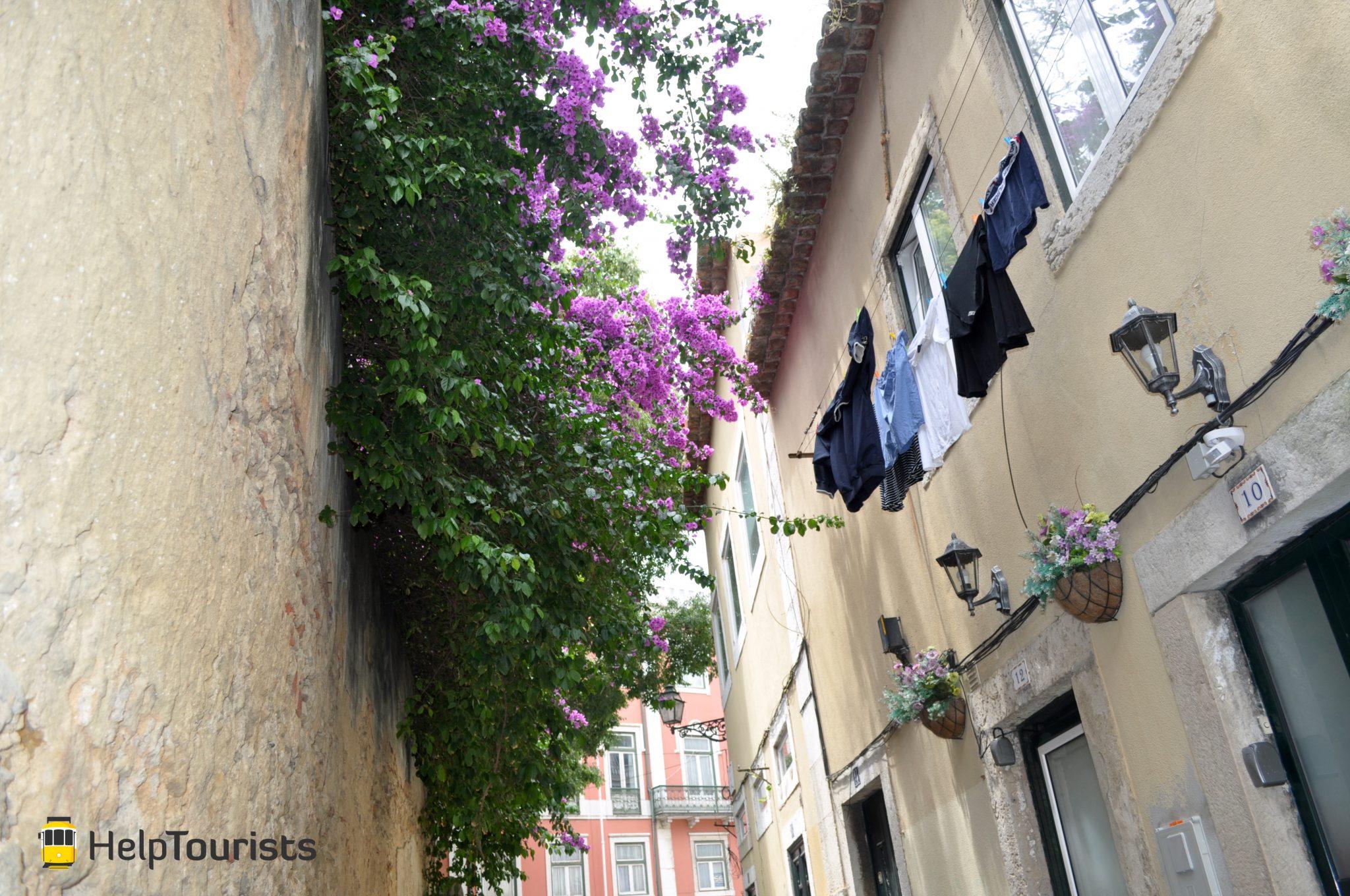 Lissabon Alfama Viertel Wäsche