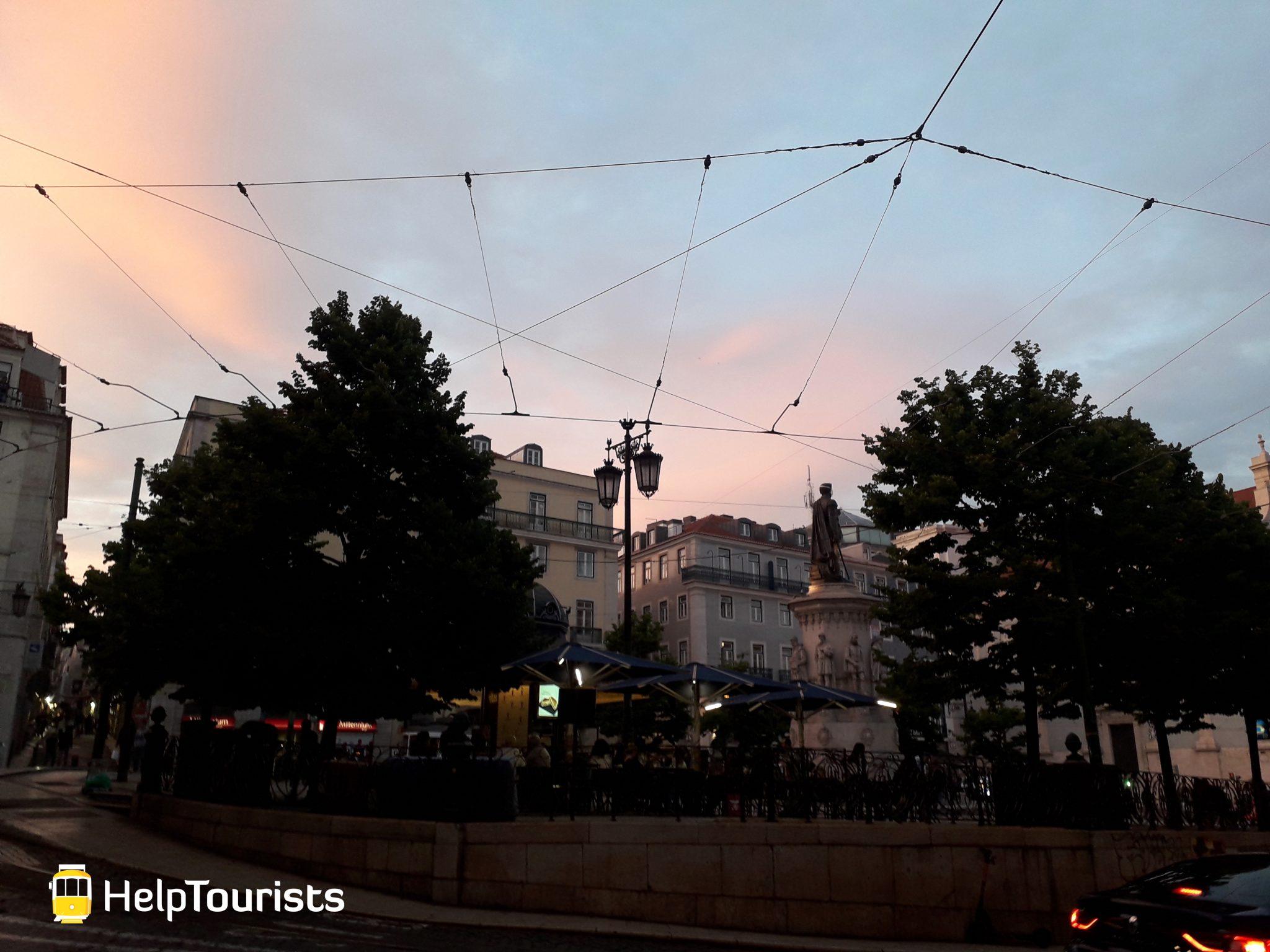 Lissabon Viertel Bairro Alto Sonnenuntergang