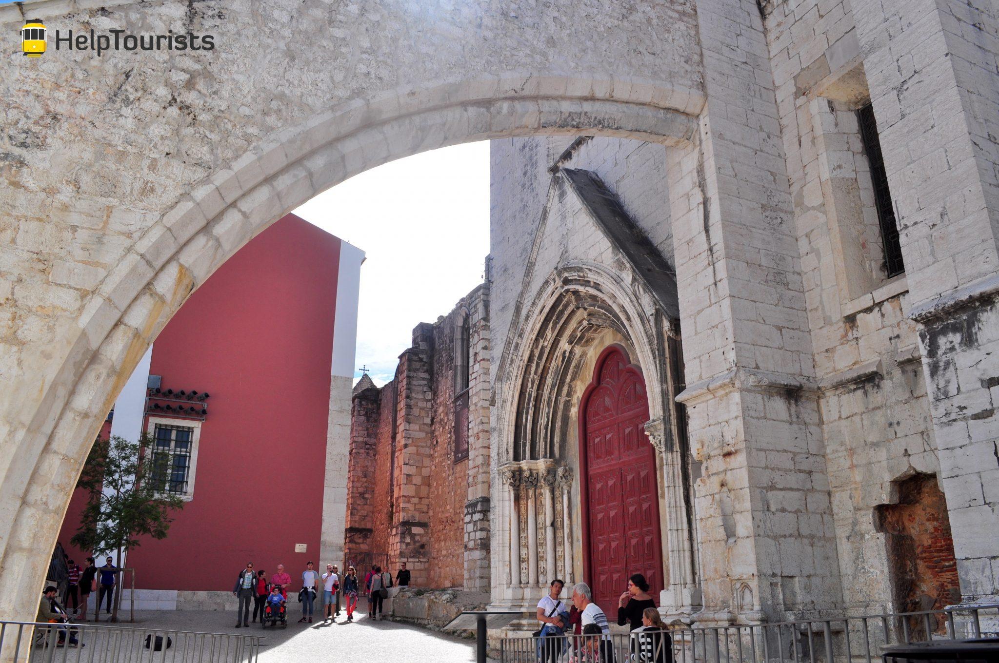 Lissabon Convento do Carmo Eingang