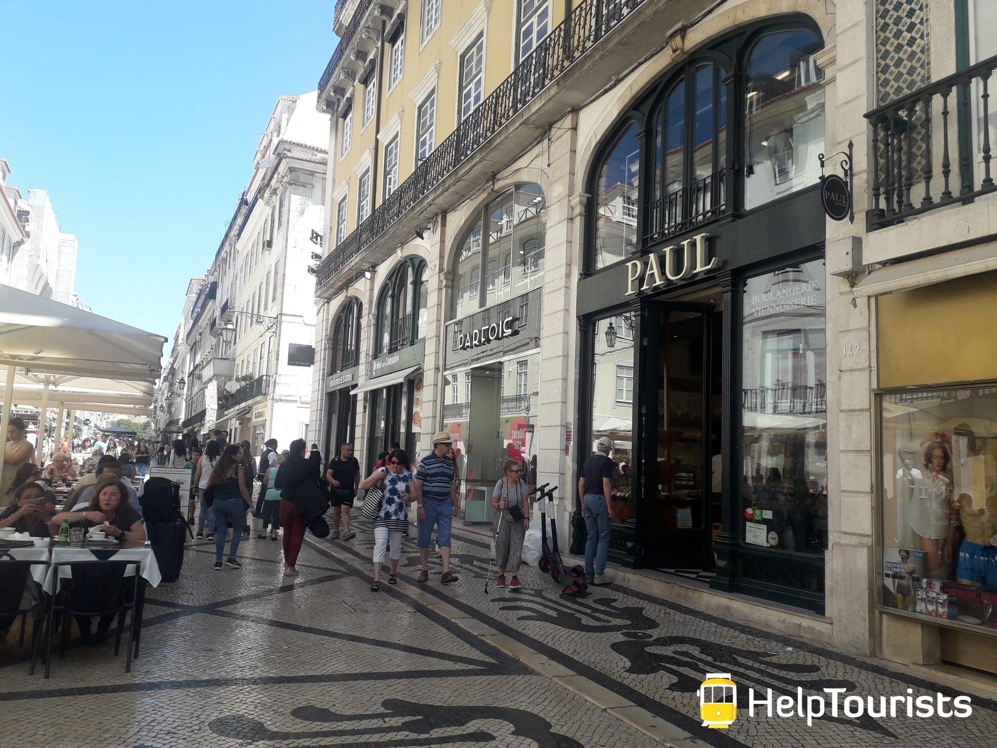 Lissabon Shopping Einkaufsstraße