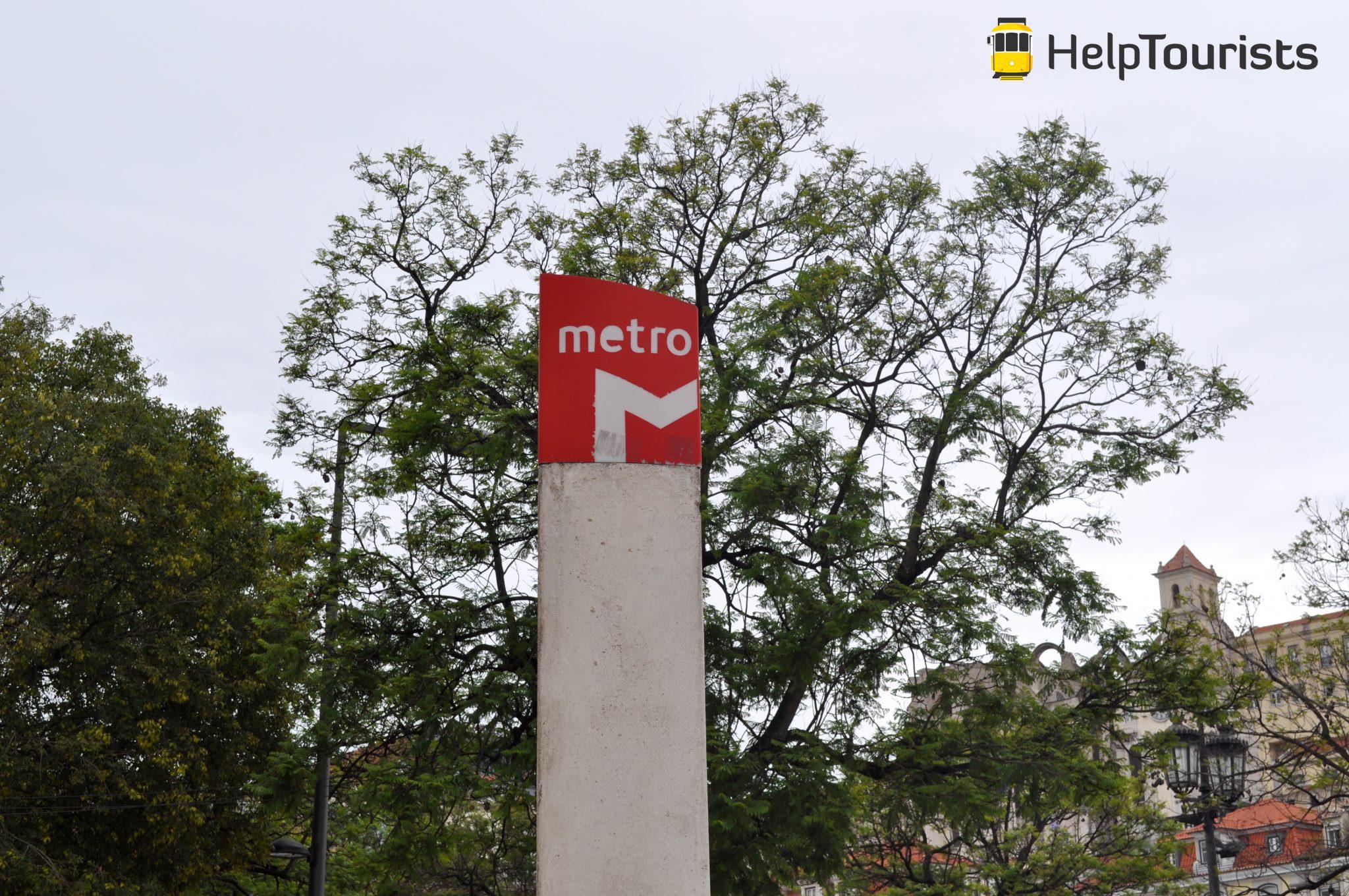 Lissabon U-Bahn Station Schild