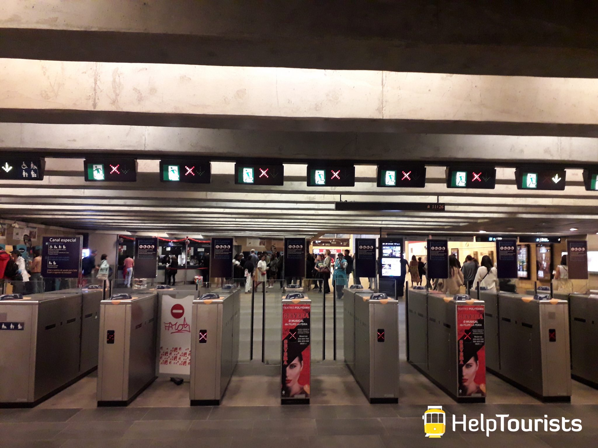 Lissabon U-Bahn Ticketkontrolle