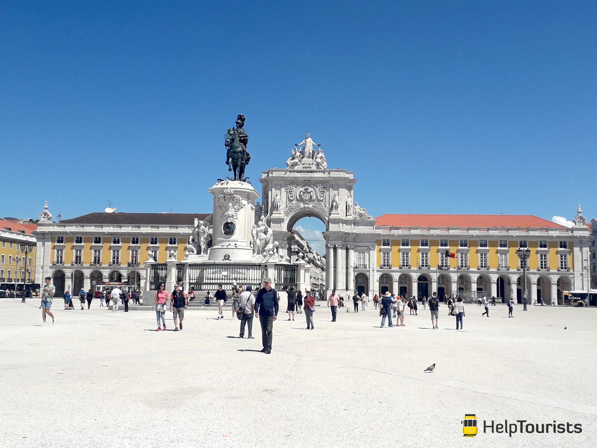 Lissabon Handelsplatz Sommer