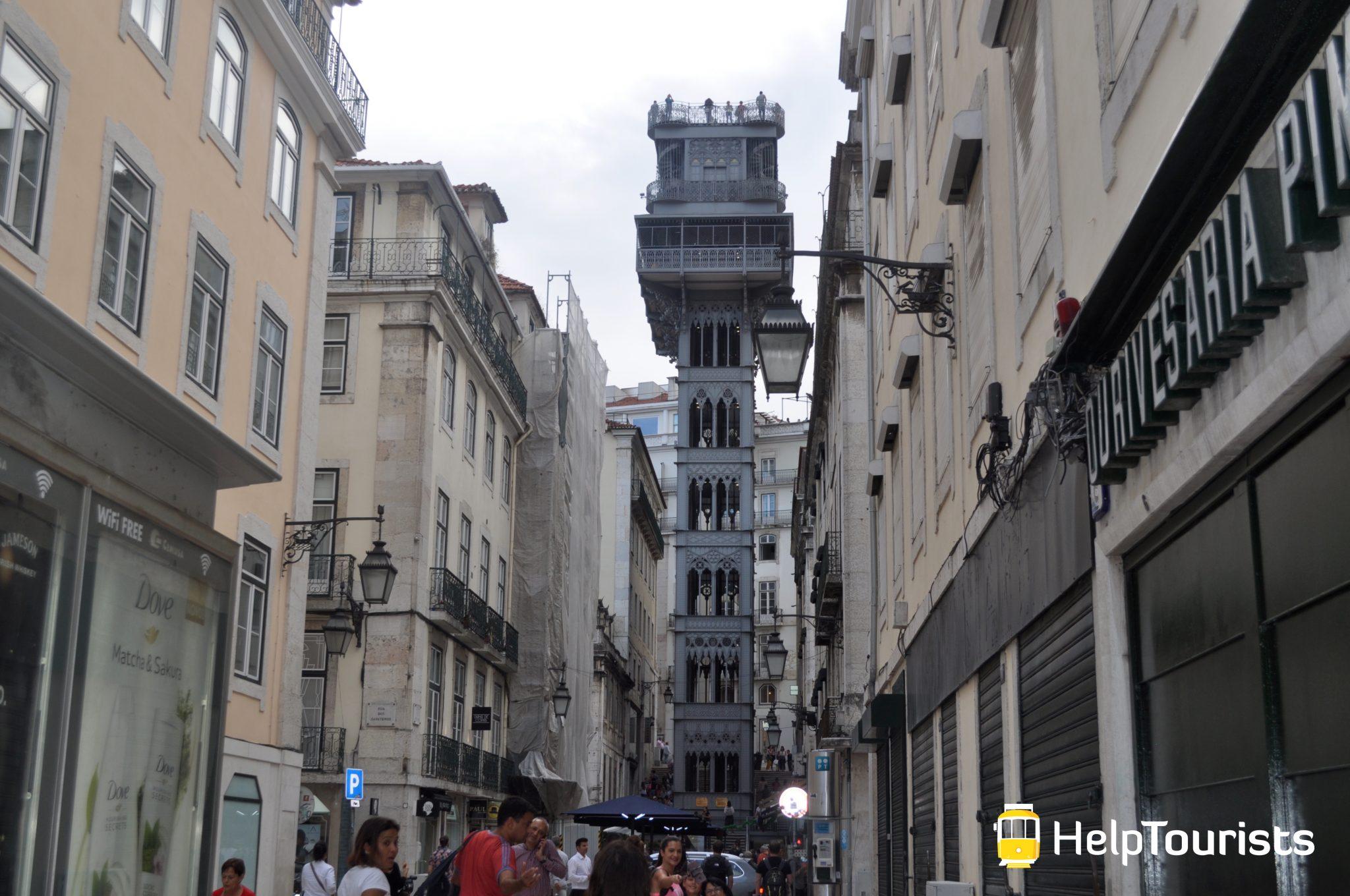 Lissabon Turm Santa Justa