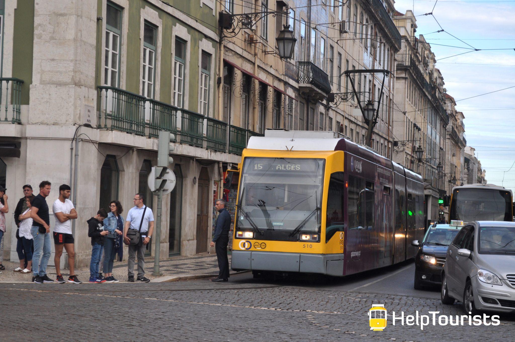 Lissabon Tram 15 Alges