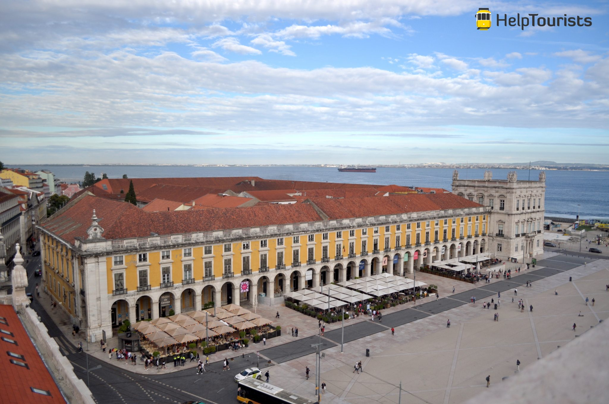 Lissabon Aussicht Handelsplatz