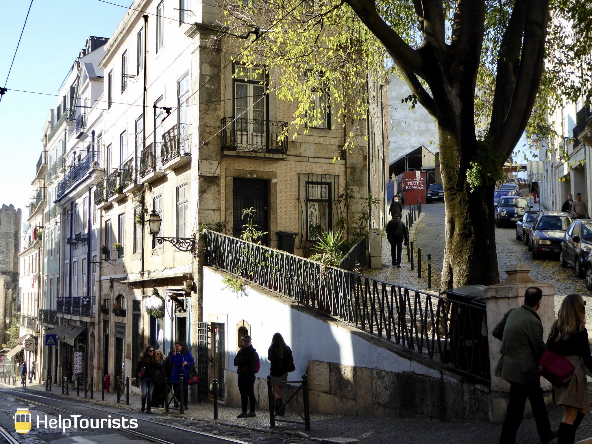 Lissabon Straßen Herbst