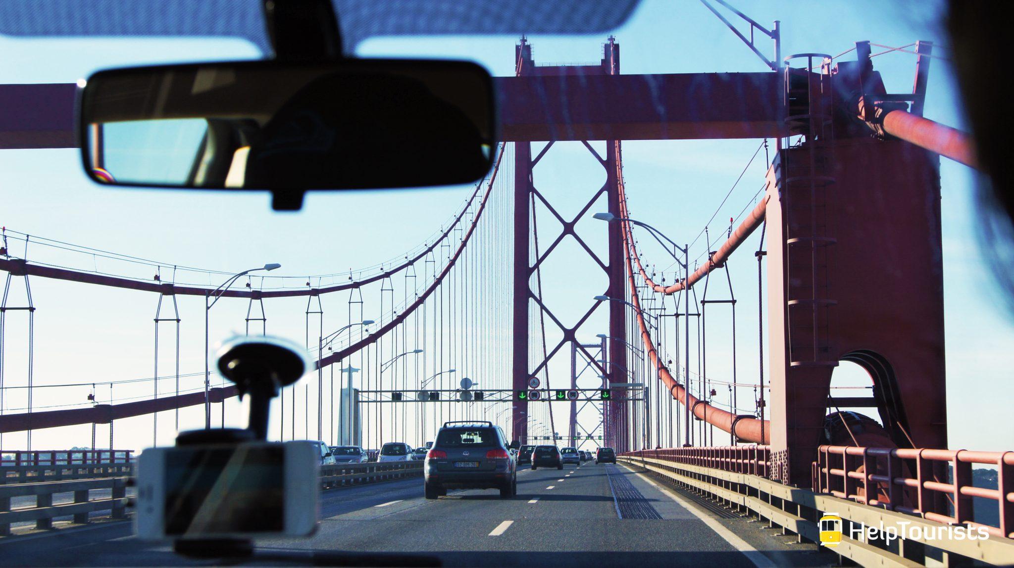 Lissabon Brücke 25 April Auto Maut