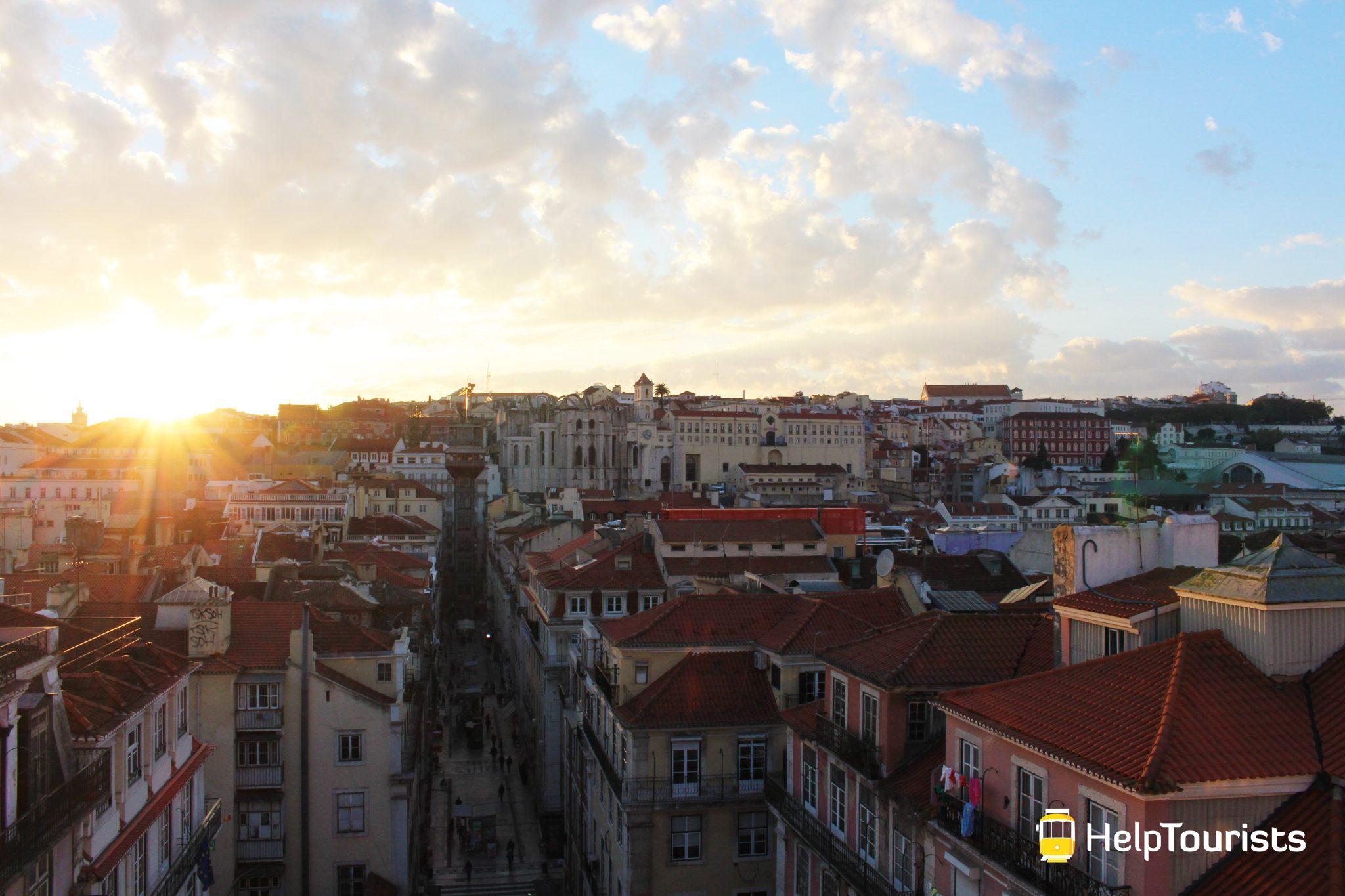 Lisbonne couché de soleil I