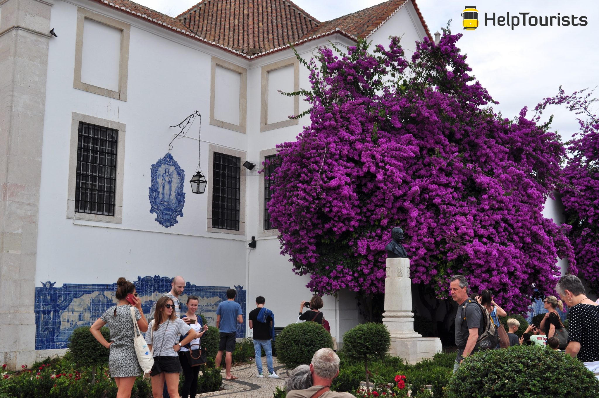 Lisbonne église santa luzia fleurs