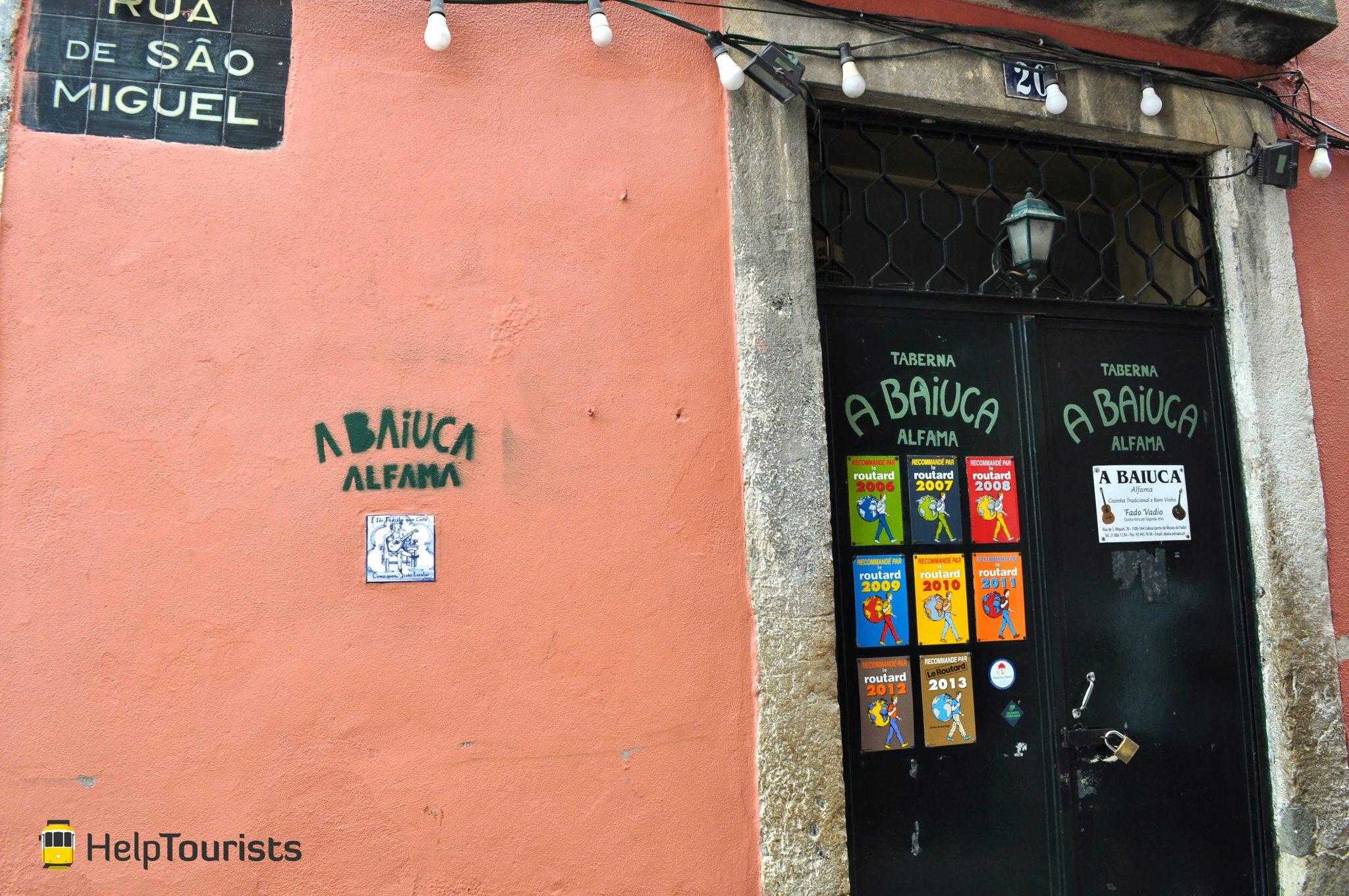 Lissabon restaurant fado Alfama