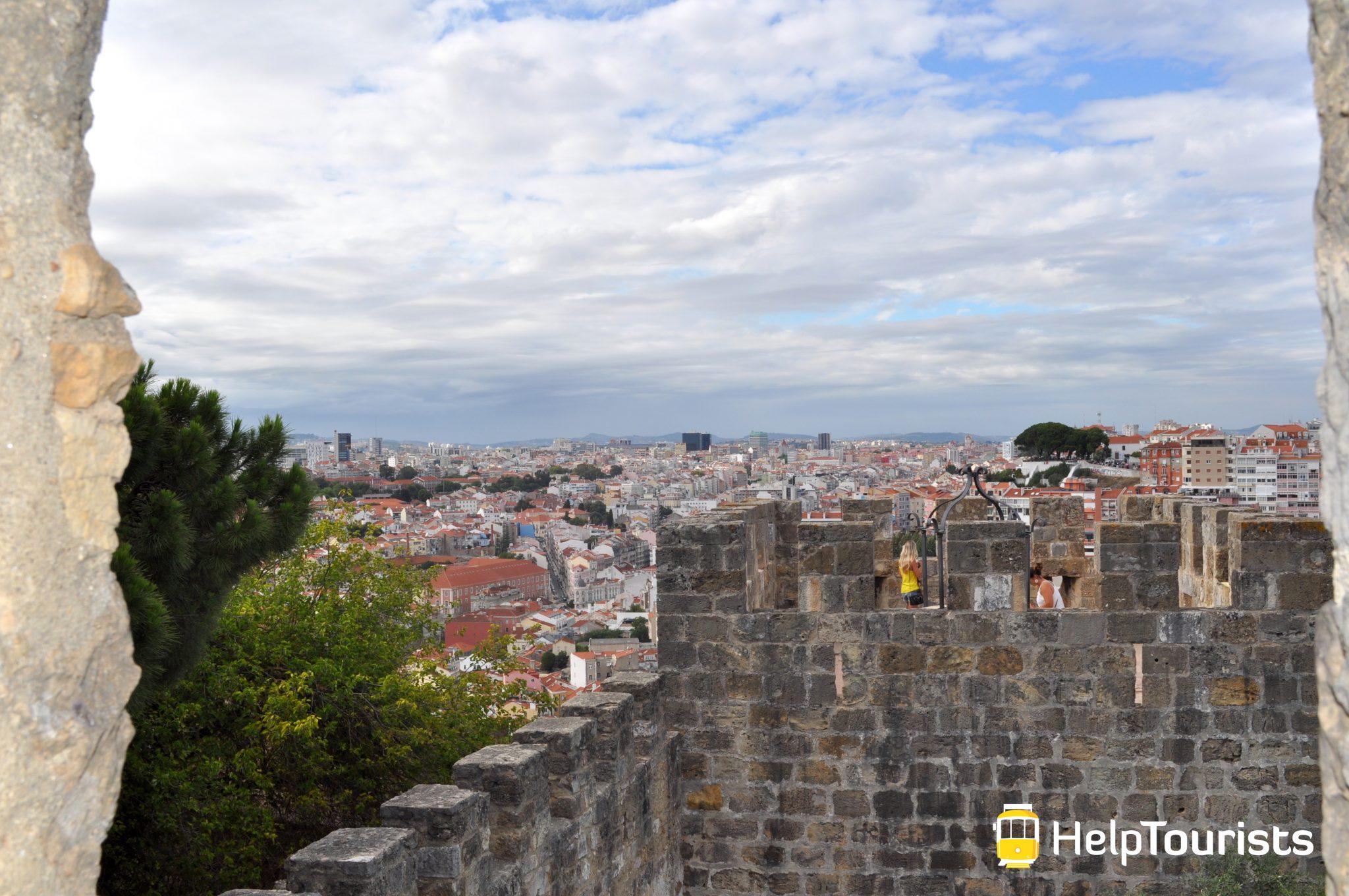 Lissabon Aussicht castelo de sao jorge