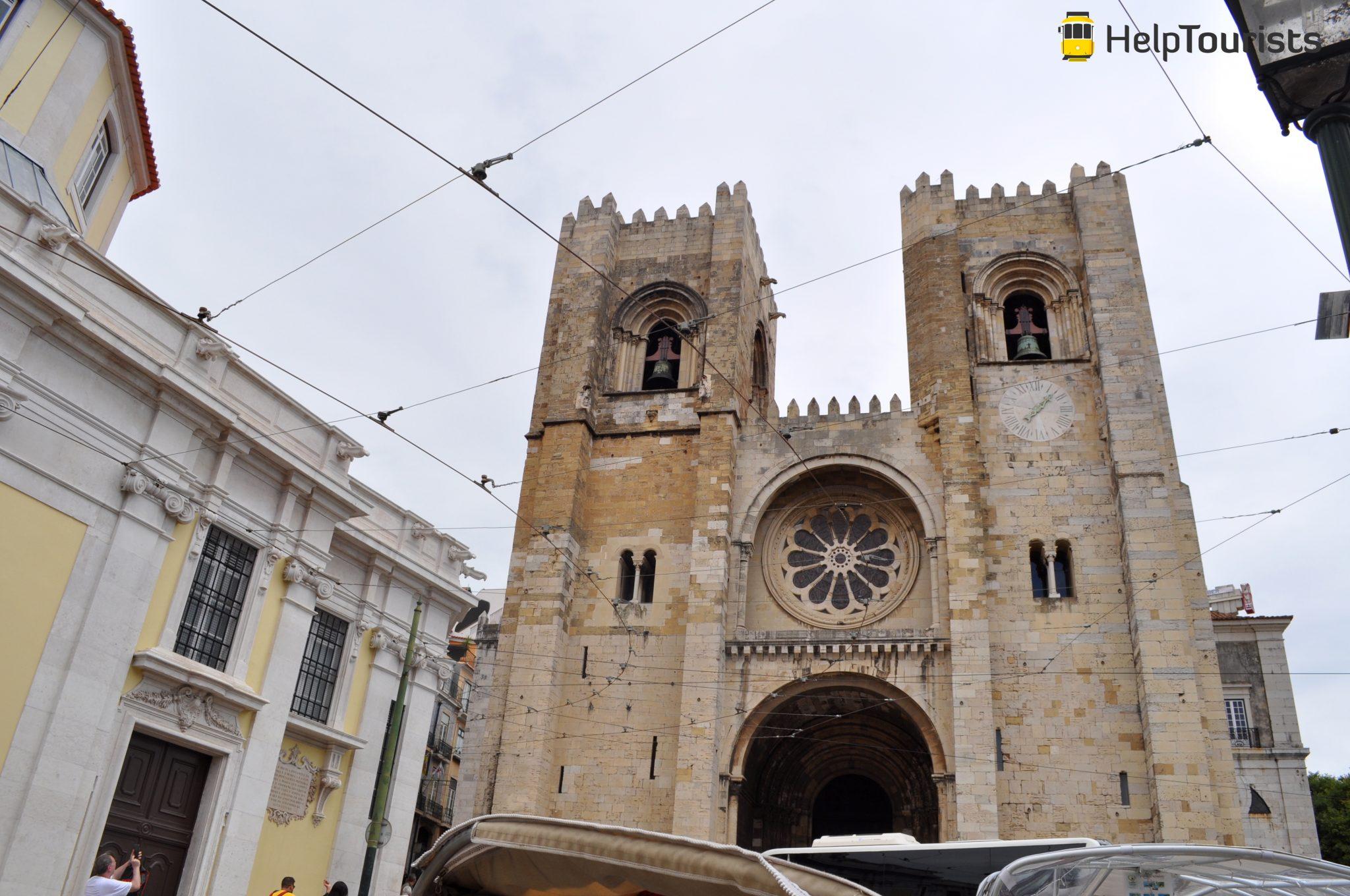 Lissabon Kathedrale Sé Straße