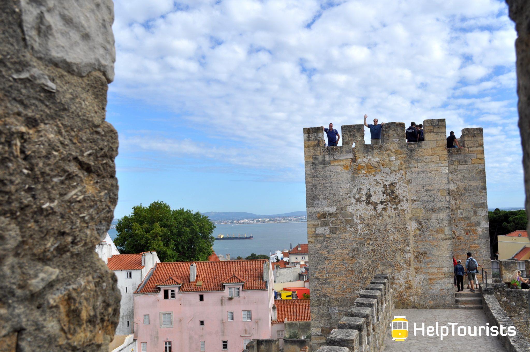 Lissabon Schloss Turm
