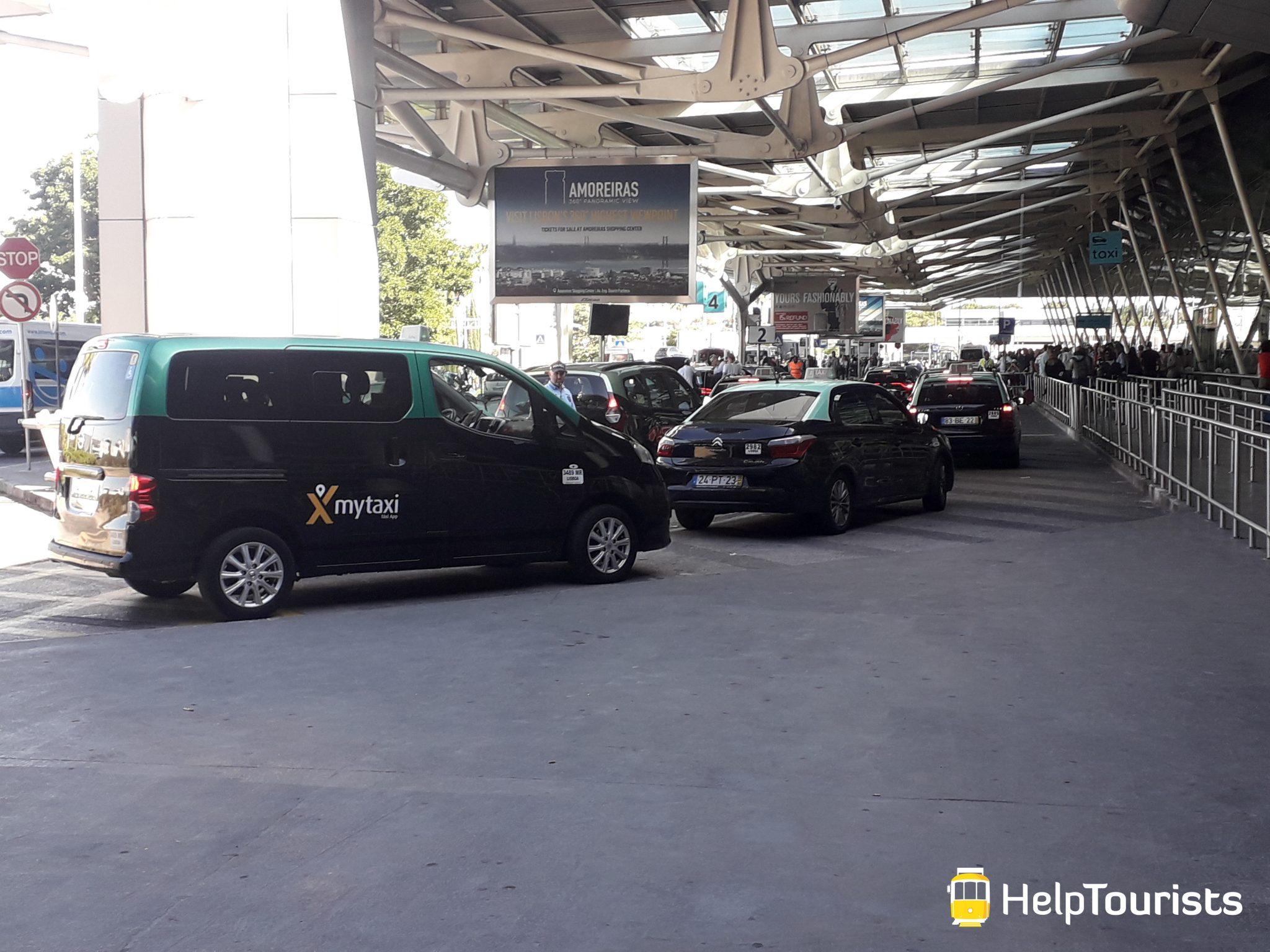 Lissabon Flughafen Taxis