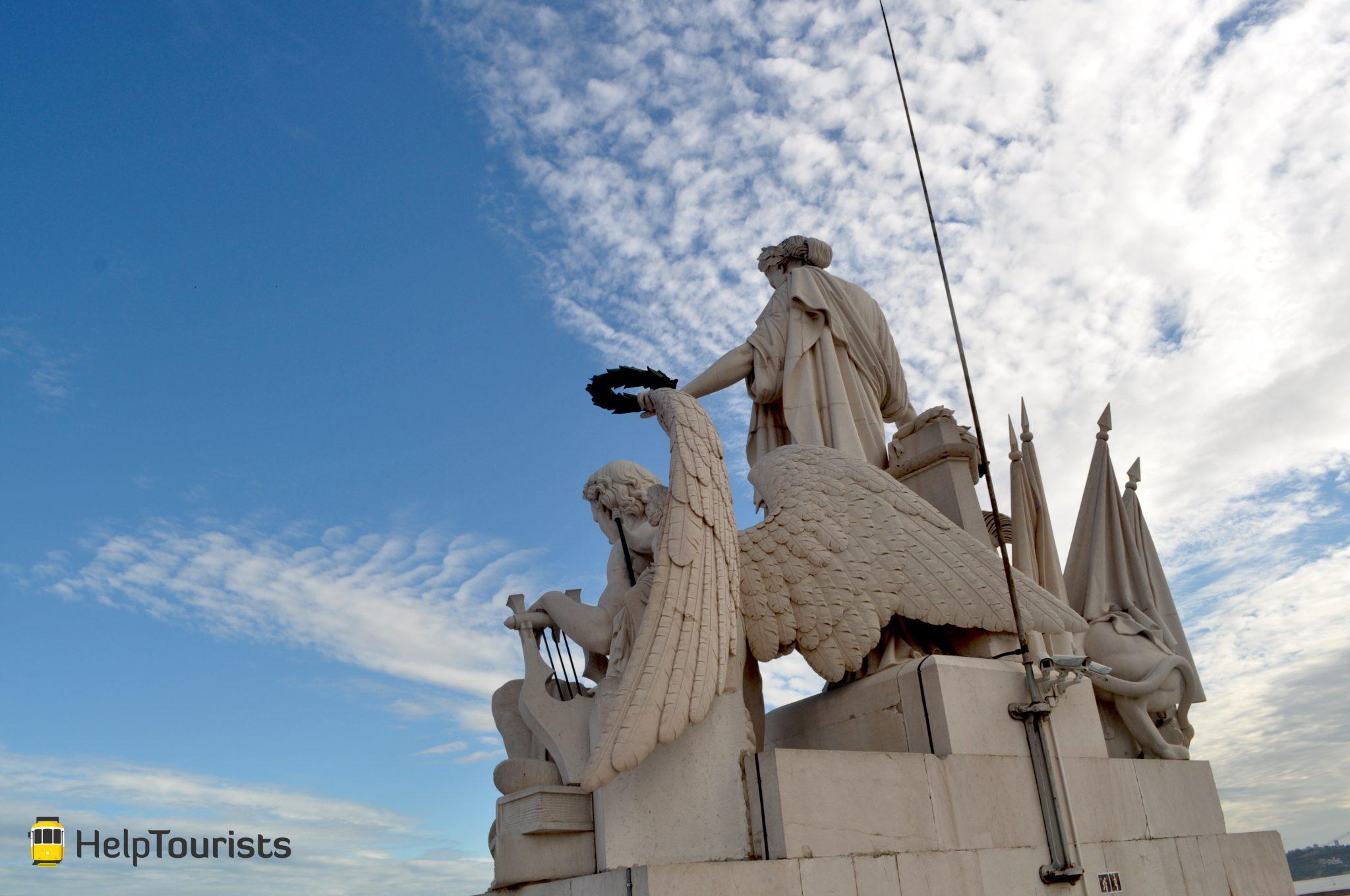 Lissabon Triumphbogen Aussicht Himmel