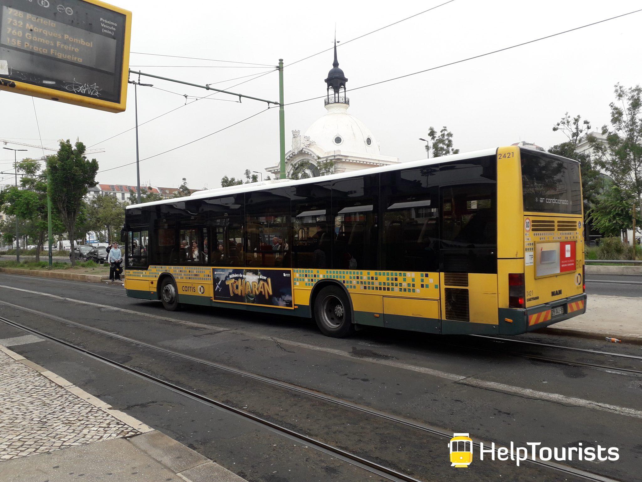 Lissabon Bus Innenstadt