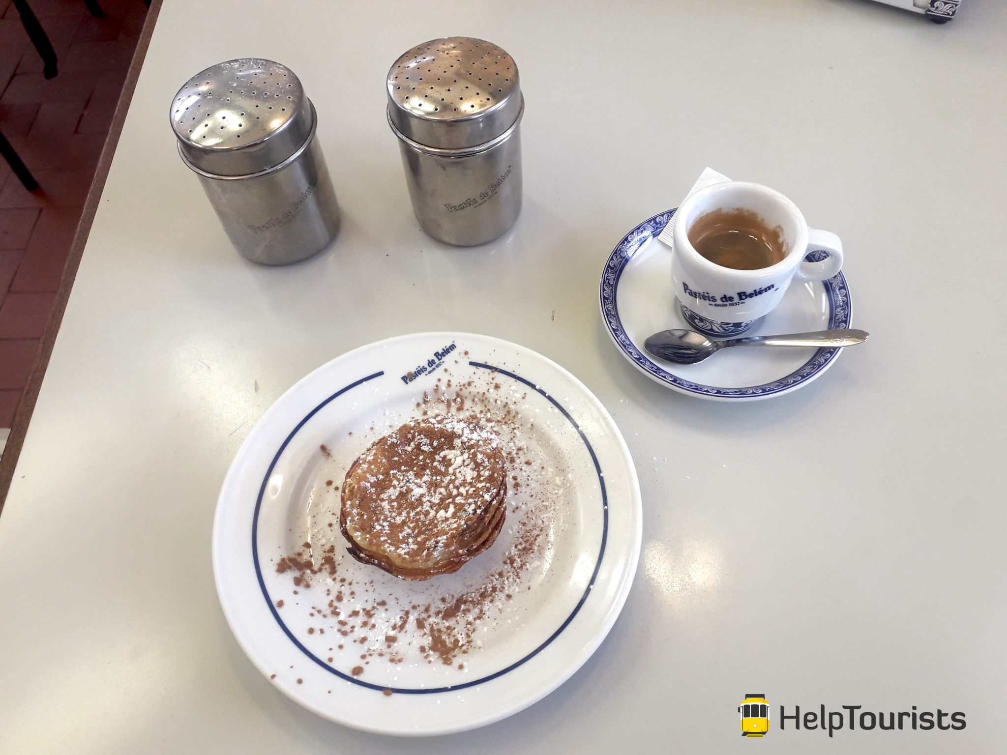 Lissabon pasteis belém mit kaffee