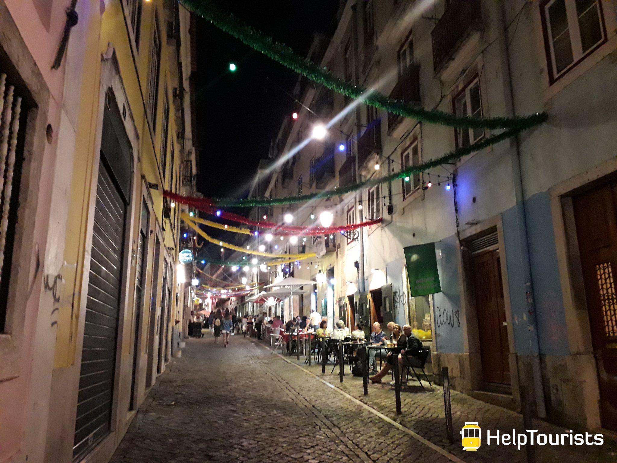 Lissabon Viertel Nachtleben Ausgehen