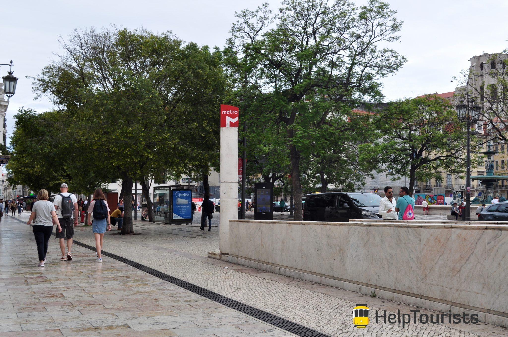 Lissabon U-Bahn Station Ausgang