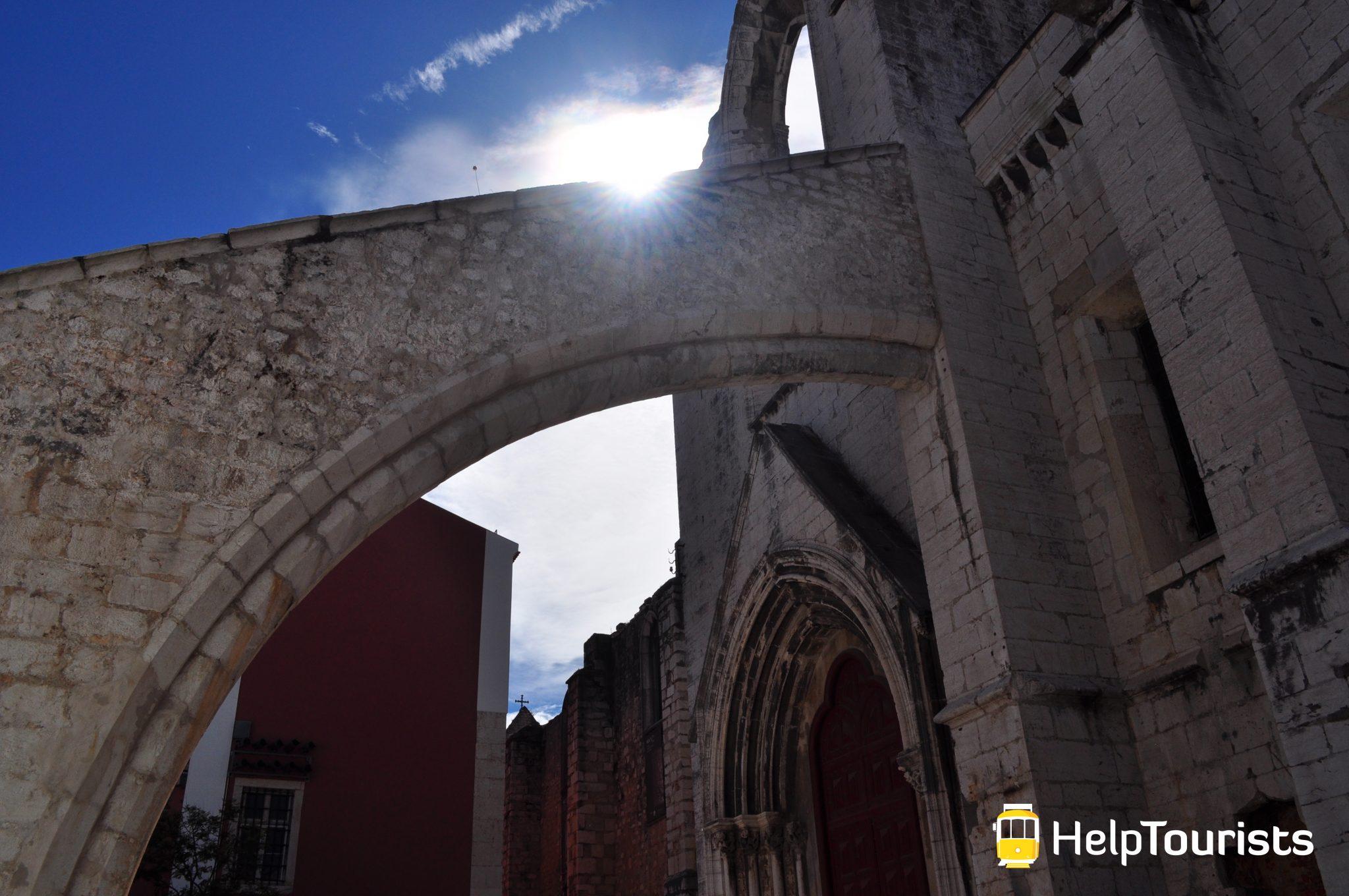 Lissabon Convento do Carmo Sonne
