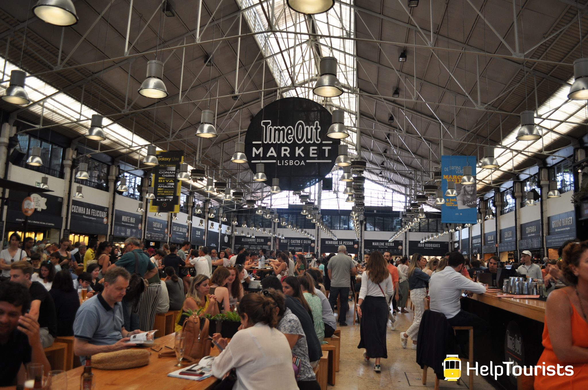 Lissabon mercado da ribeira Time out market Markt