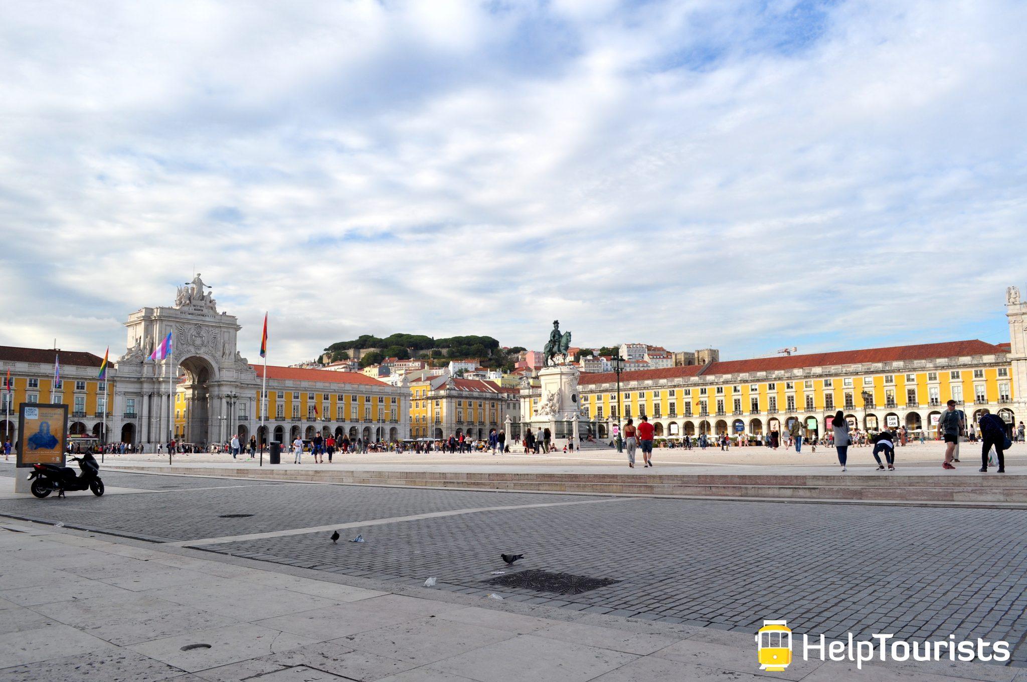 Lissabon Handelsplatz weit