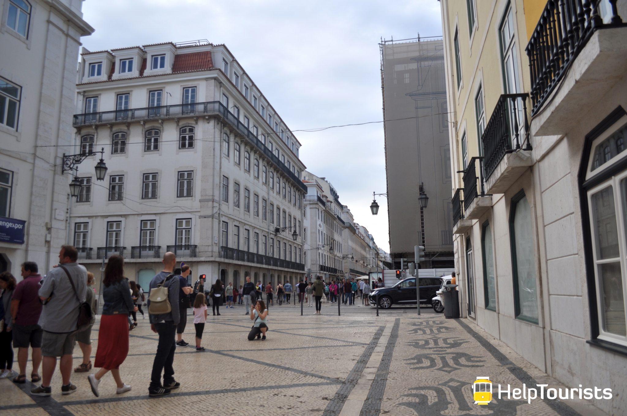 Lissabon Viertel Baixa Fußgängerzone