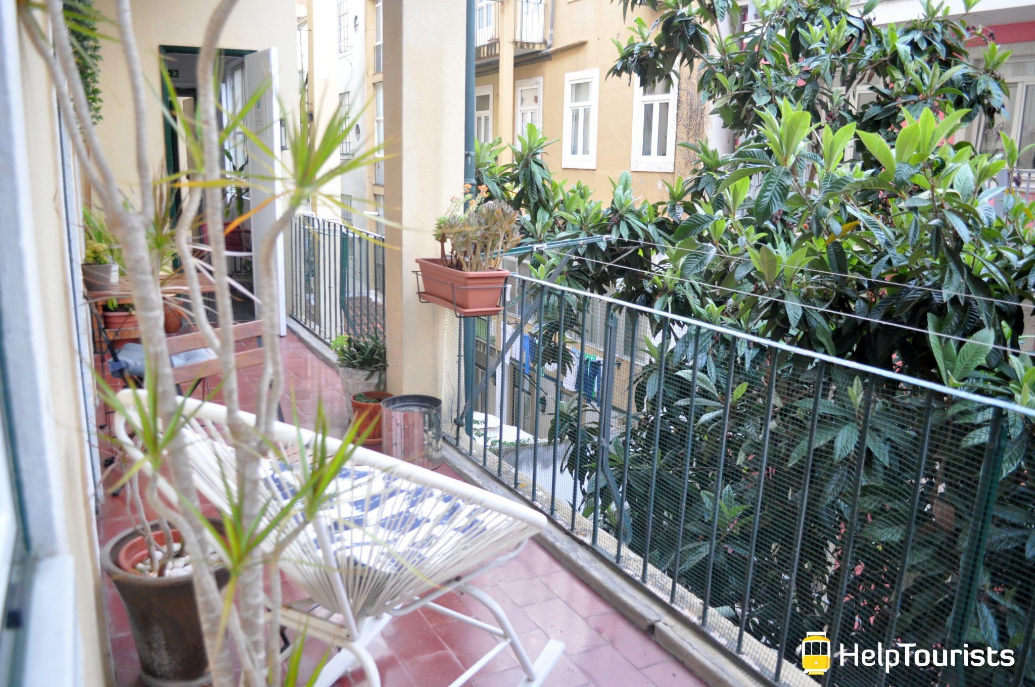 Lissabon Unterkunft Zentrum Balkon