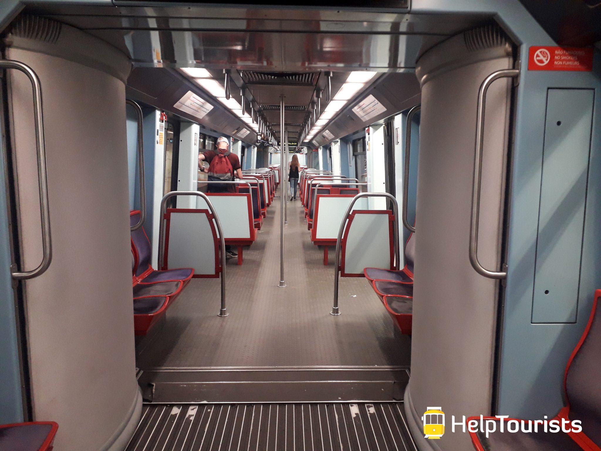 Lissabon U-Bahn Sitzplätze