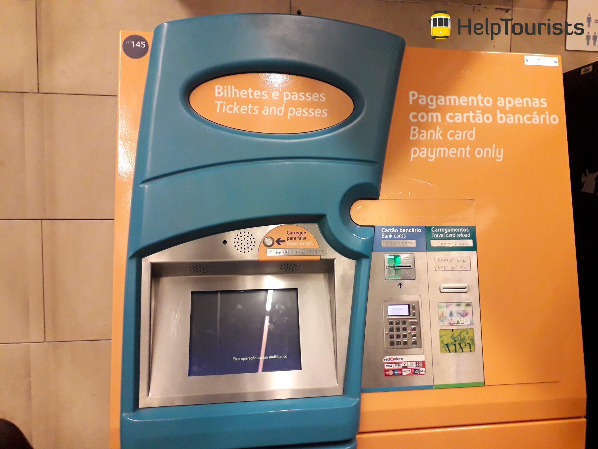 Lissabon U-Bahn mit Karte bezahlen