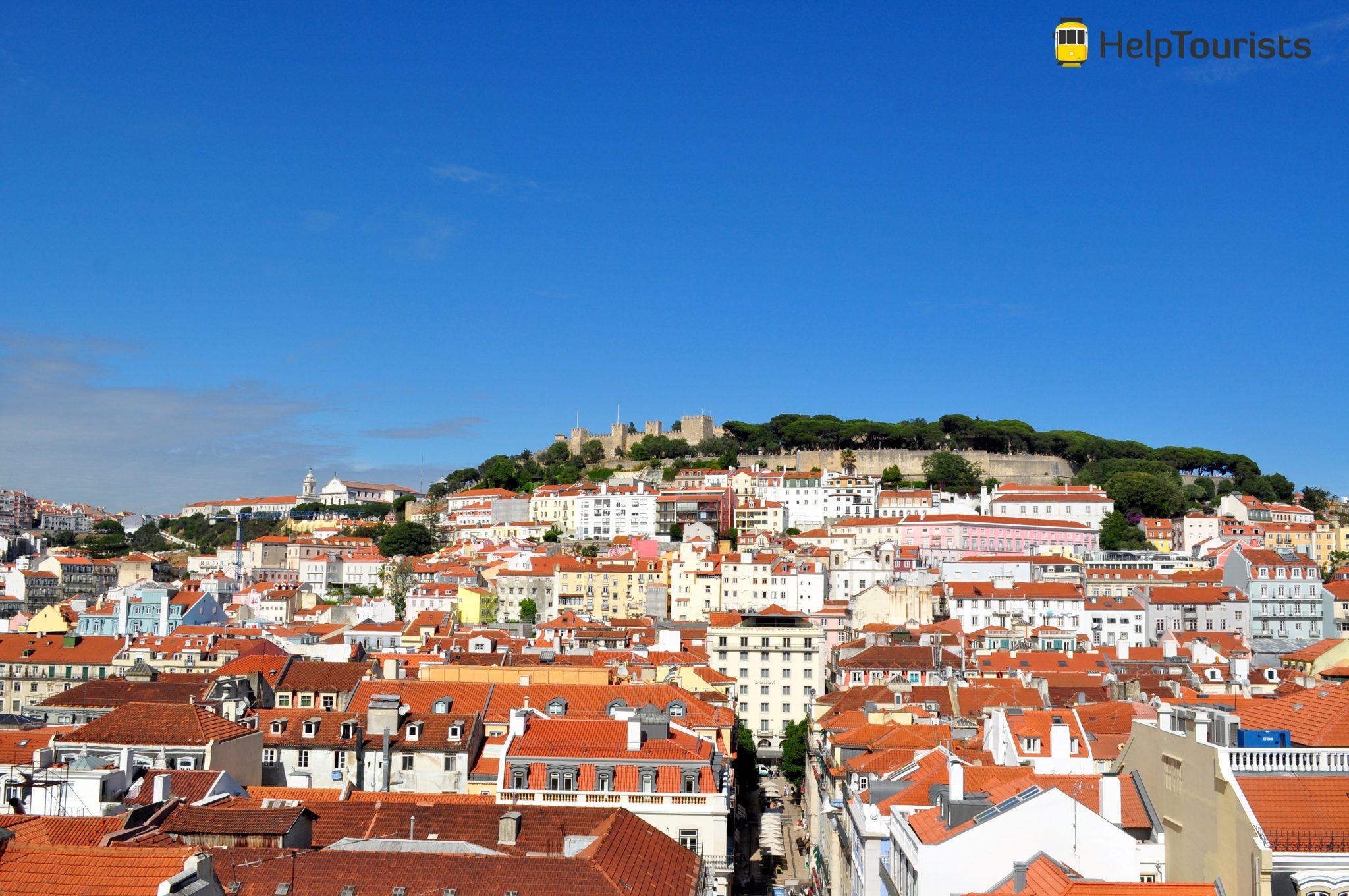 Lisbonne point de vue Castelo de sao jorge
