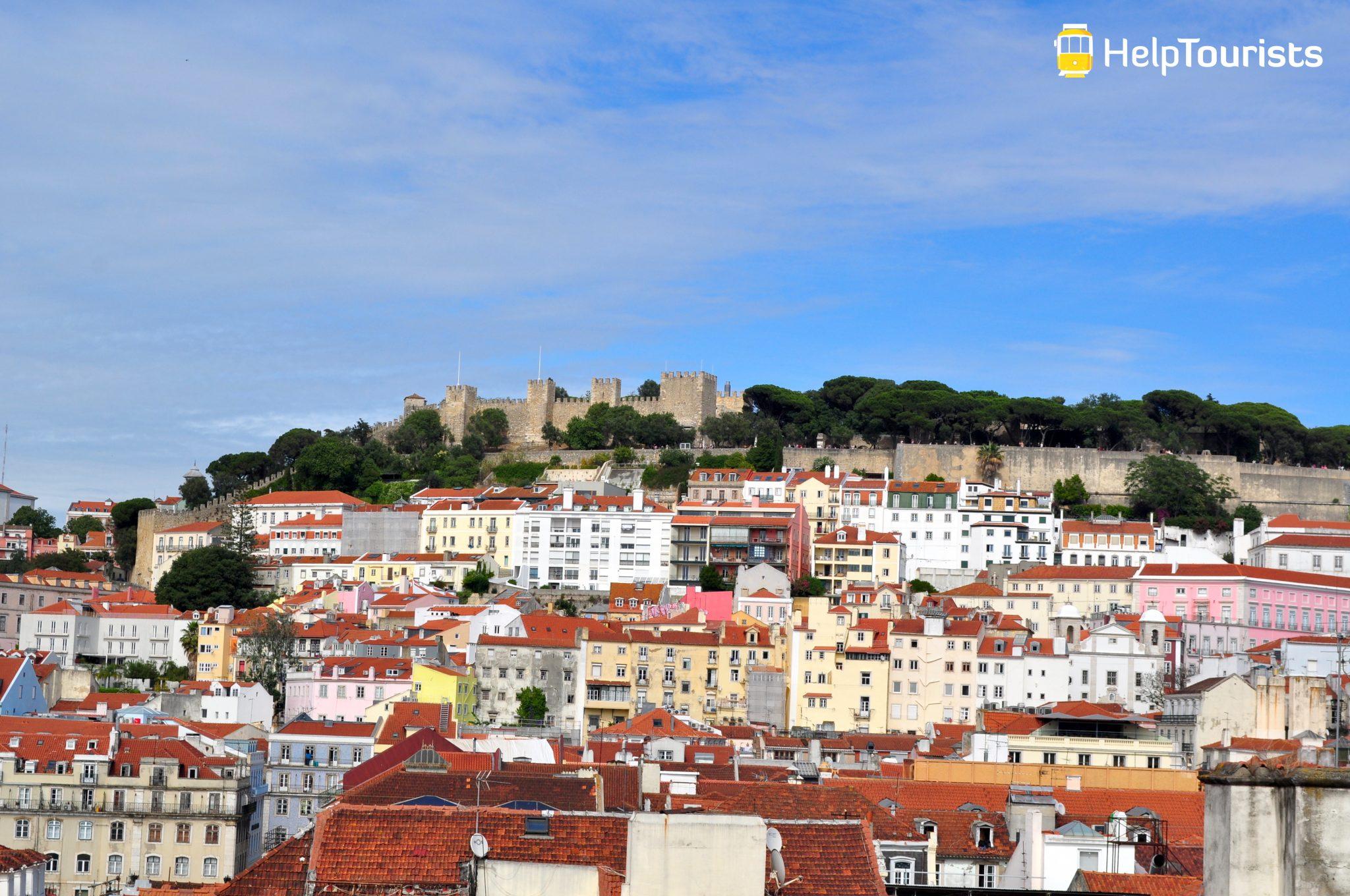 Lissabon Aussichtspunkt castelo de sao jorge sommer